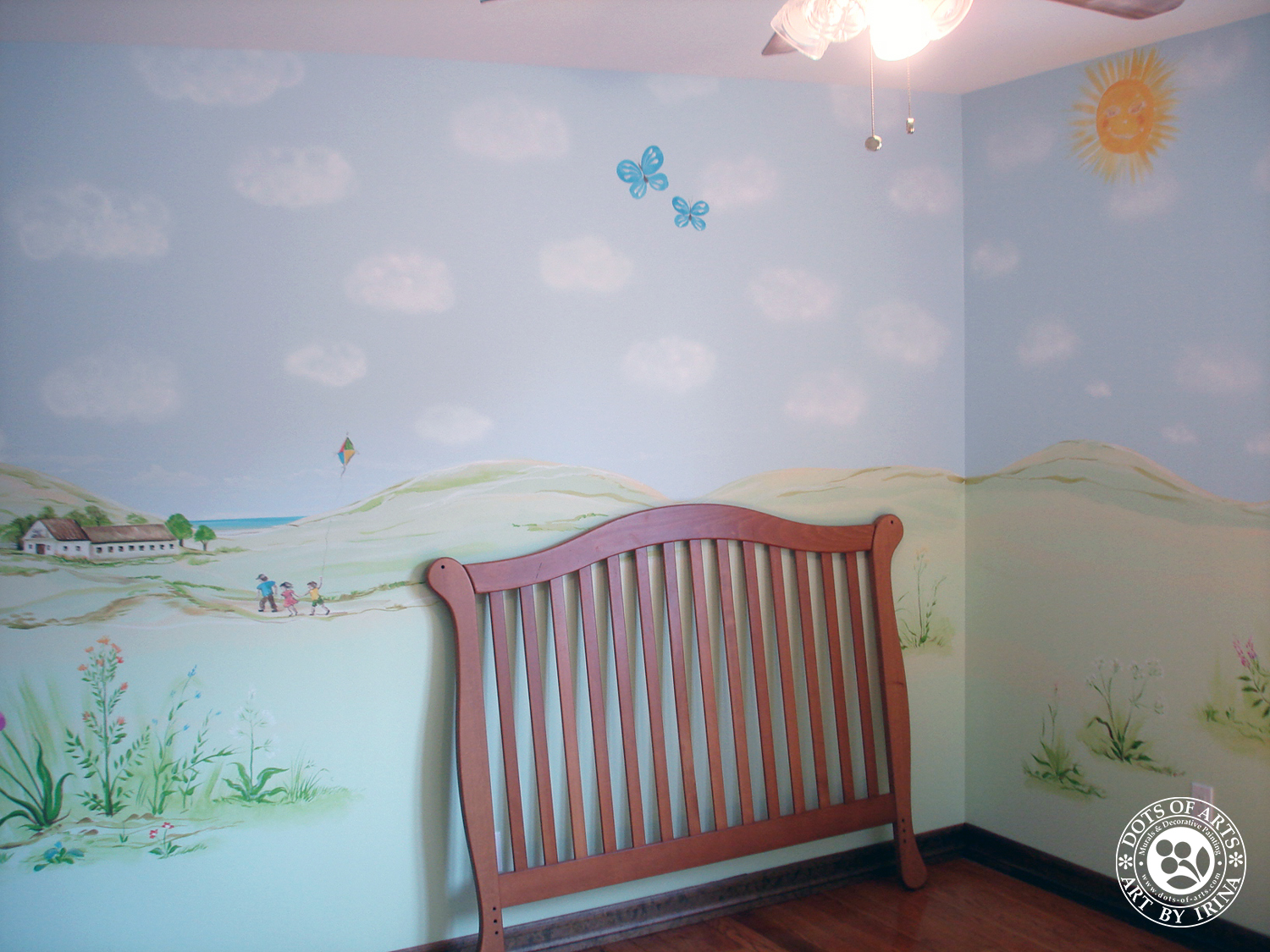 mural-custom-baby-room-farm-theme-clouds-wild-flowers-dots-of-arts-sly-puffy-clouds.jpg
