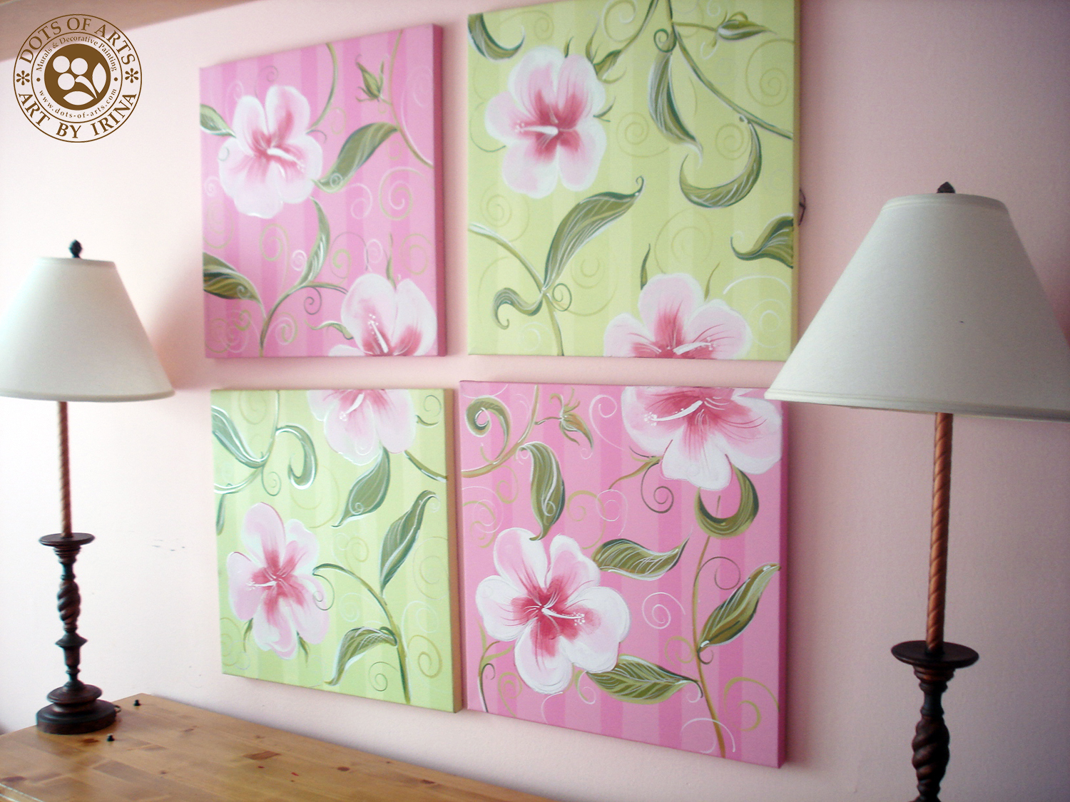 decorative-painting-canvases-custom-dots-of-arts-accessories-four-pink-green.jpg