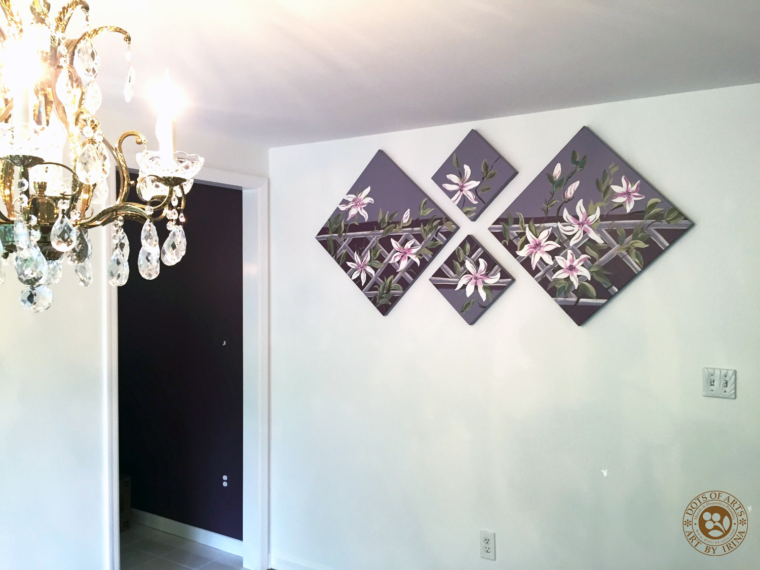 decorative-painting-canvases-custom-dots-of-arts-flowers-purple-background-full-room-two.jpg