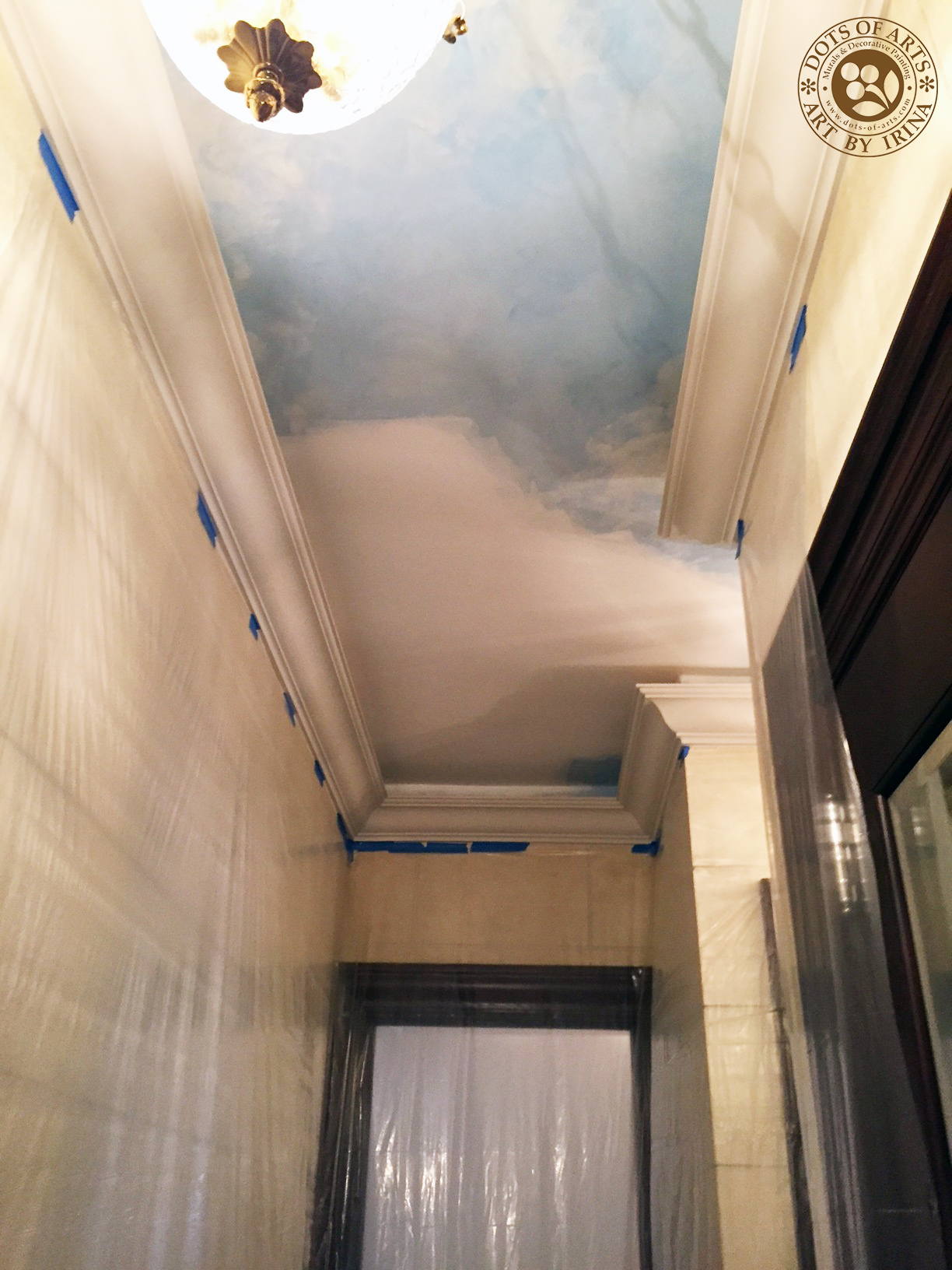 dots_of_arts_murals_decorative_painting_NJ_NY_restorations_Manhattan_hallway_sky_clouds_before.jpg