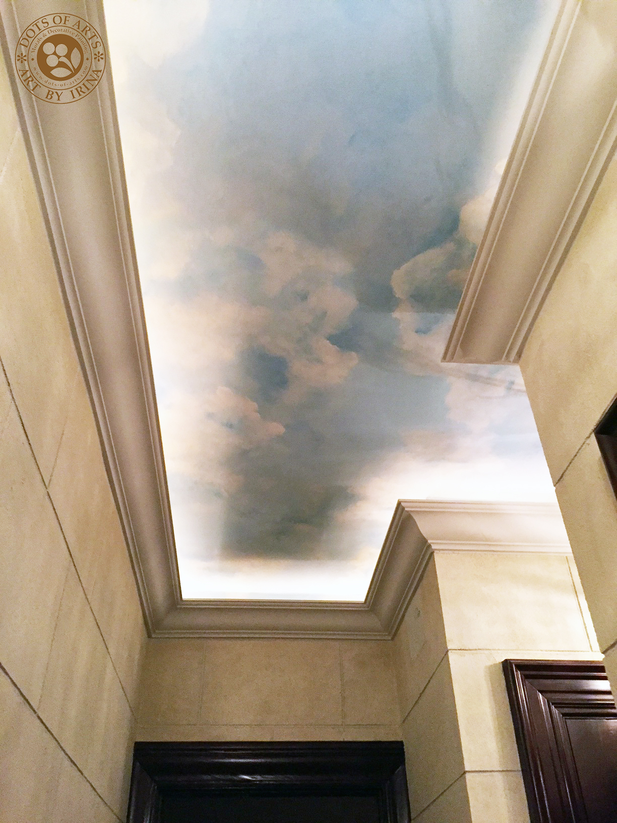 dots_of_arts_murals_decorative_painting_NJ_NY_restorations_Manhattan_hallway_sky_clouds_after01.jpg