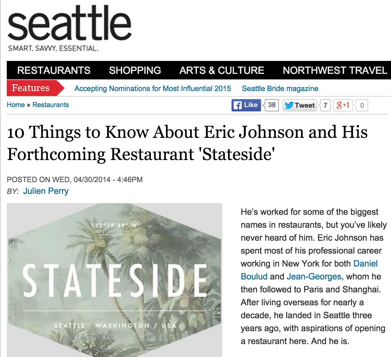 Seattle Magazine 4/30/14