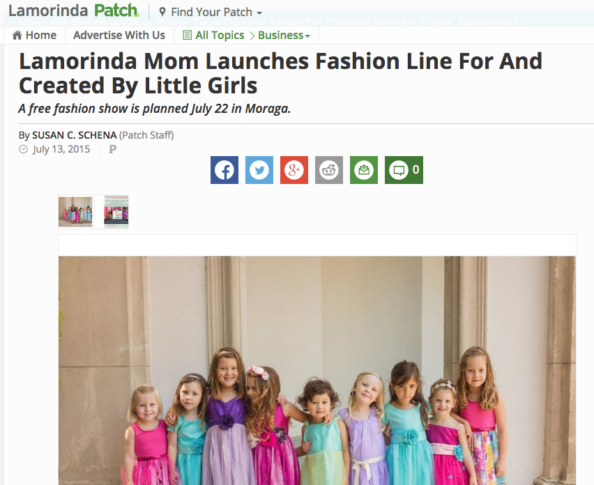 Read full Article on Lamorinda Patch:   http://patch.com/california/lamorinda/lamorinda-mom-launches-fashion-line-created-little-girls-0