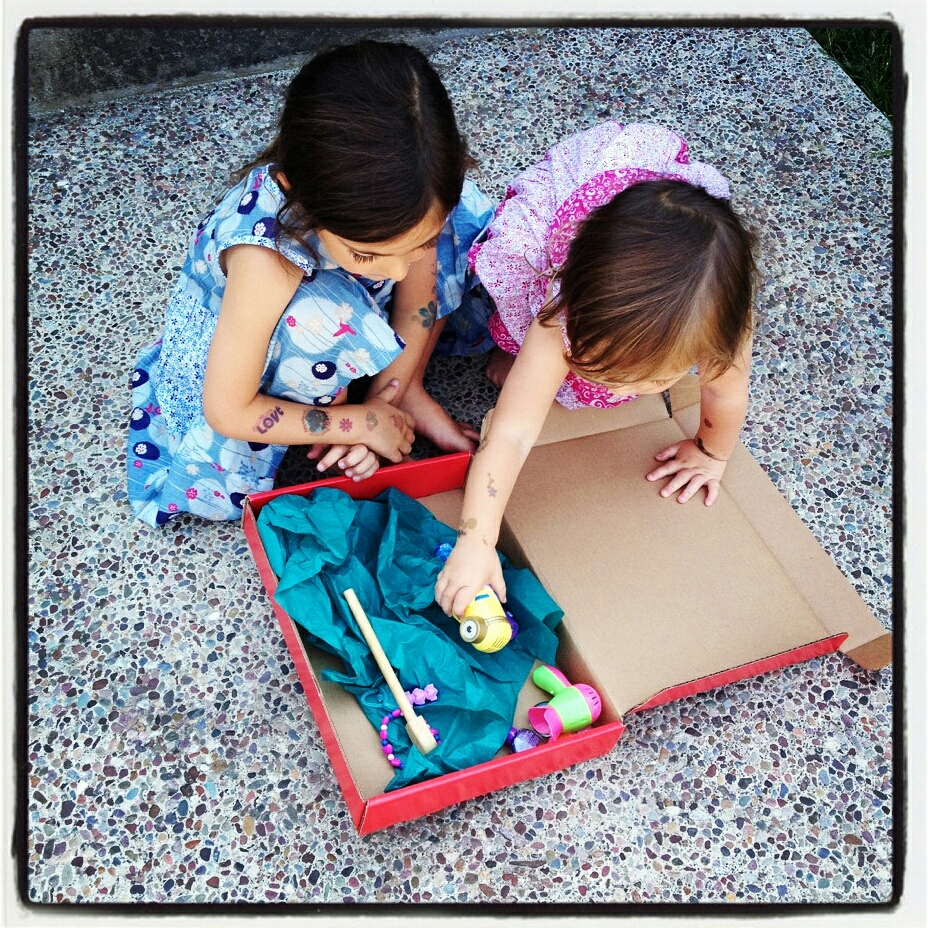 So cool to see sisters collecting treasures and re-purposing their #isabelazam #dressbox for fun and adventure. #reuse #recycle #customdress #girlsfashion #madeincalifornia