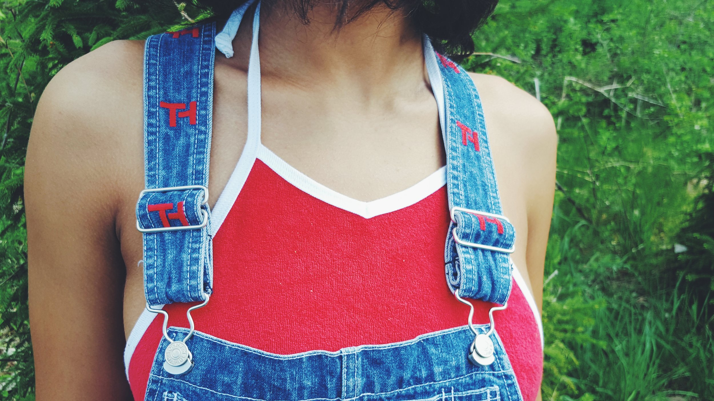 Overalls| Tommy Hilfiger  Crop Top| American Apparel