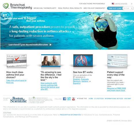 The original BTforAsthma.com website.
