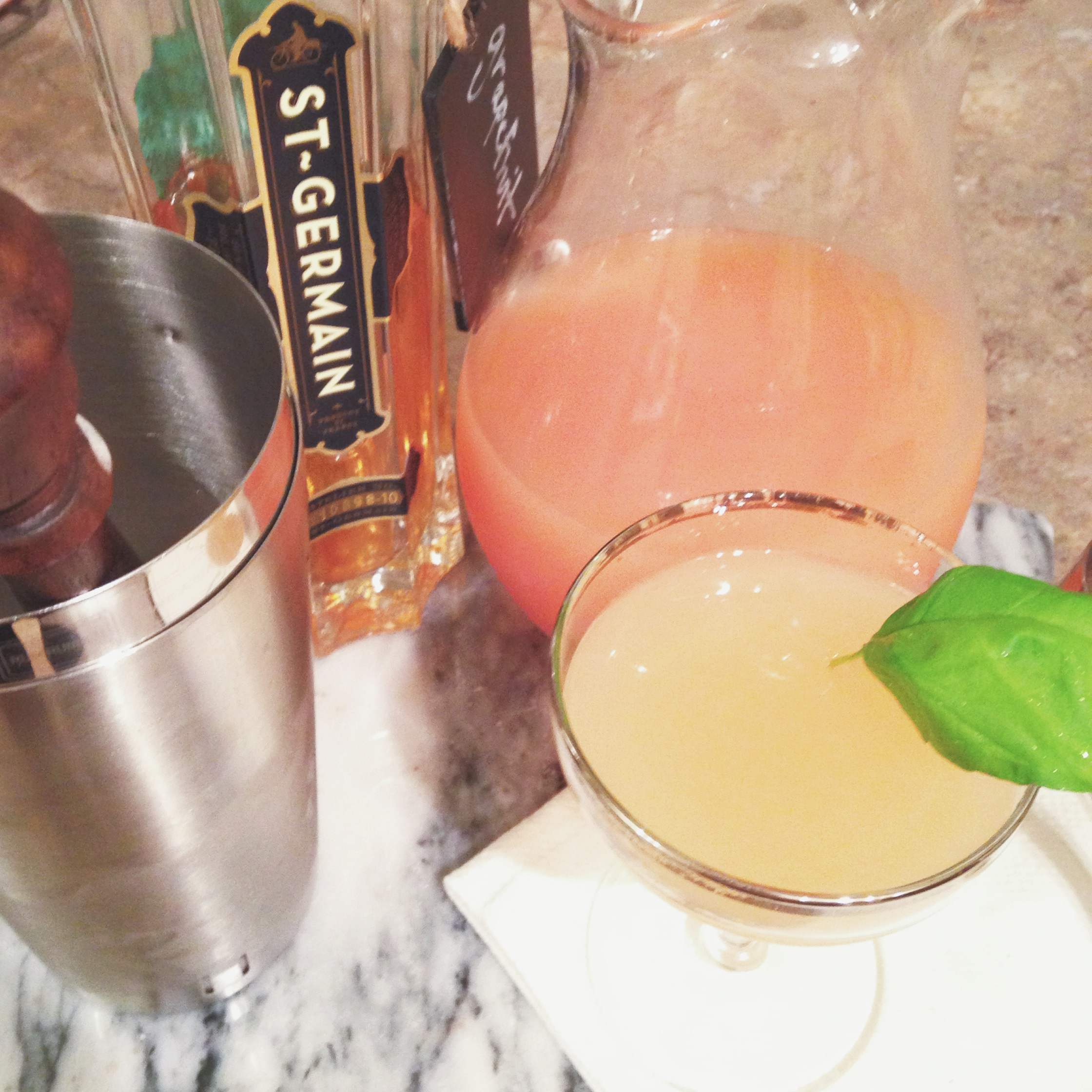 grapefruit basil paloma | madeline made
