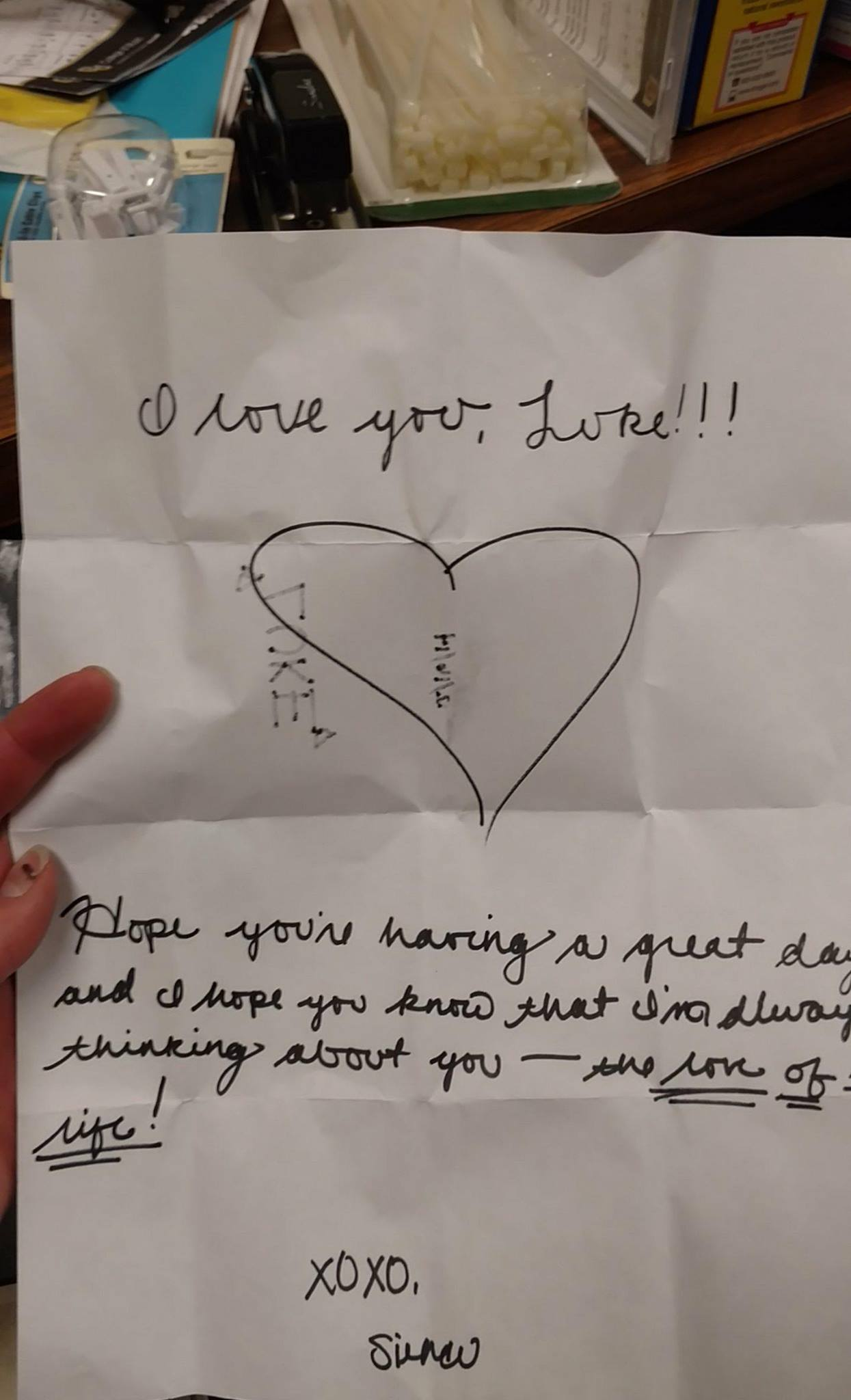 Note from Boulder