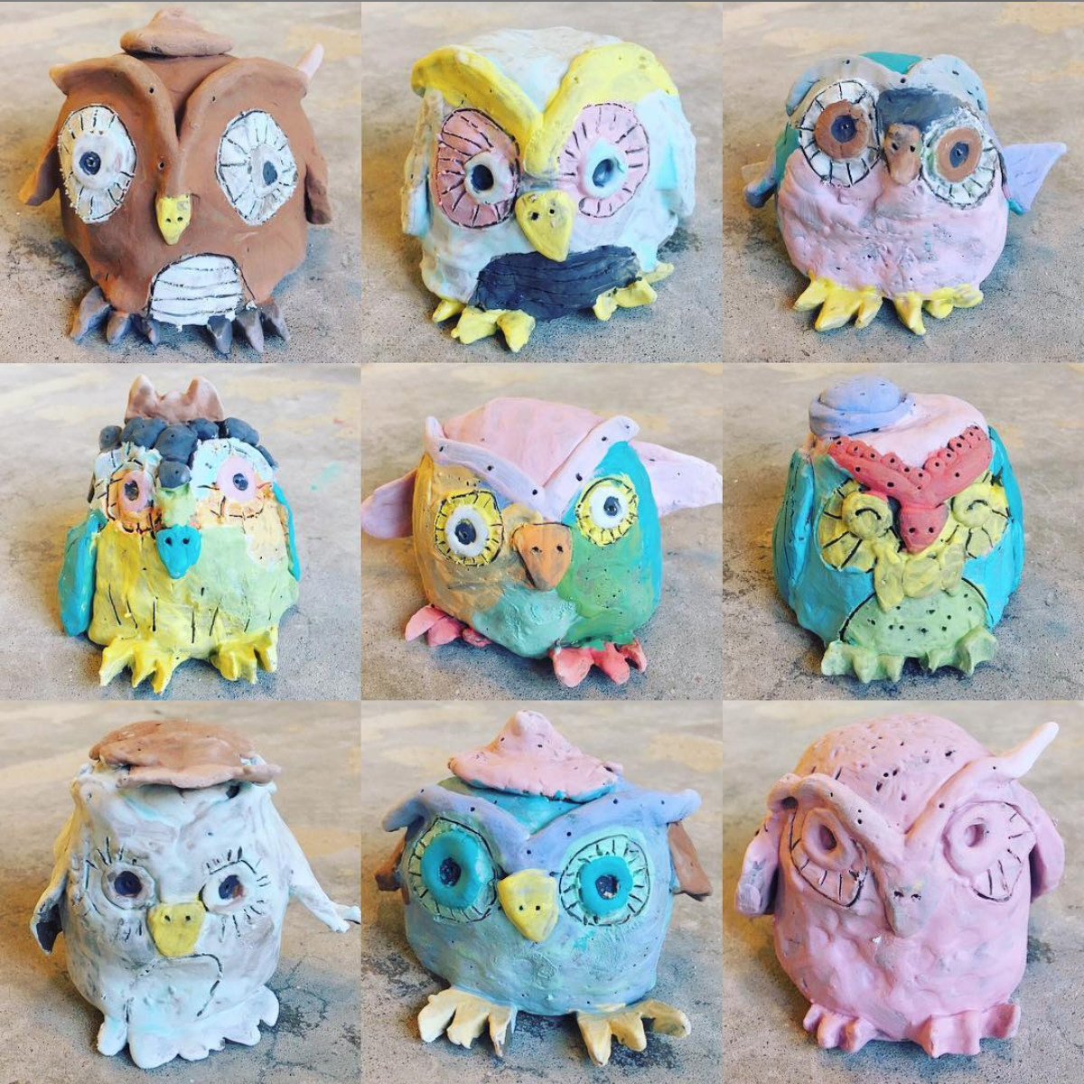 CRAZY FOR CLAY (ages 4-12)   BOTH SESSIONS FULL  June 17 - June 20 $160 (whole week) 11am - 1pm  OR  2pm - 4pm