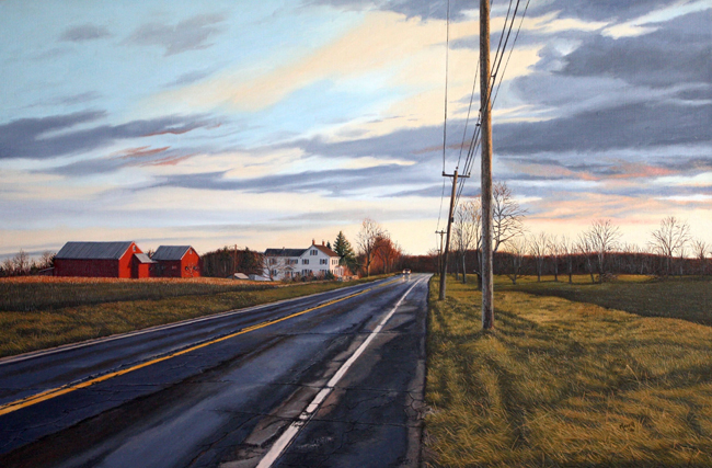 "Driving the Goshen Road - Oil on linen 20"" x 30"""