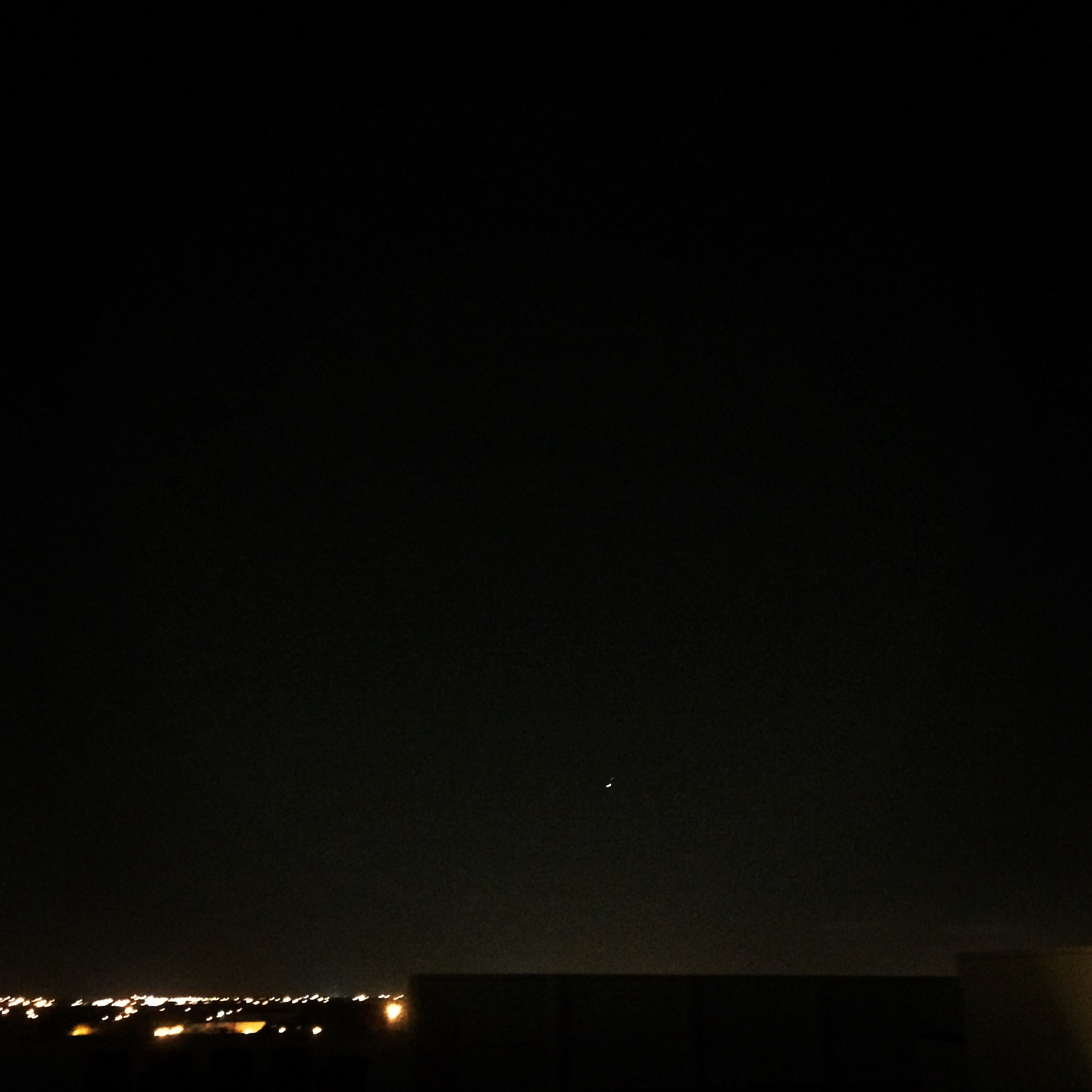 Here's Jupiter and a very obscured Venus