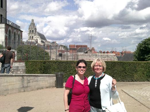 Louise with Sophie Ruhlmann in Blois. Sophie is a renowned Chopin scholar who has also researched Franchomme.