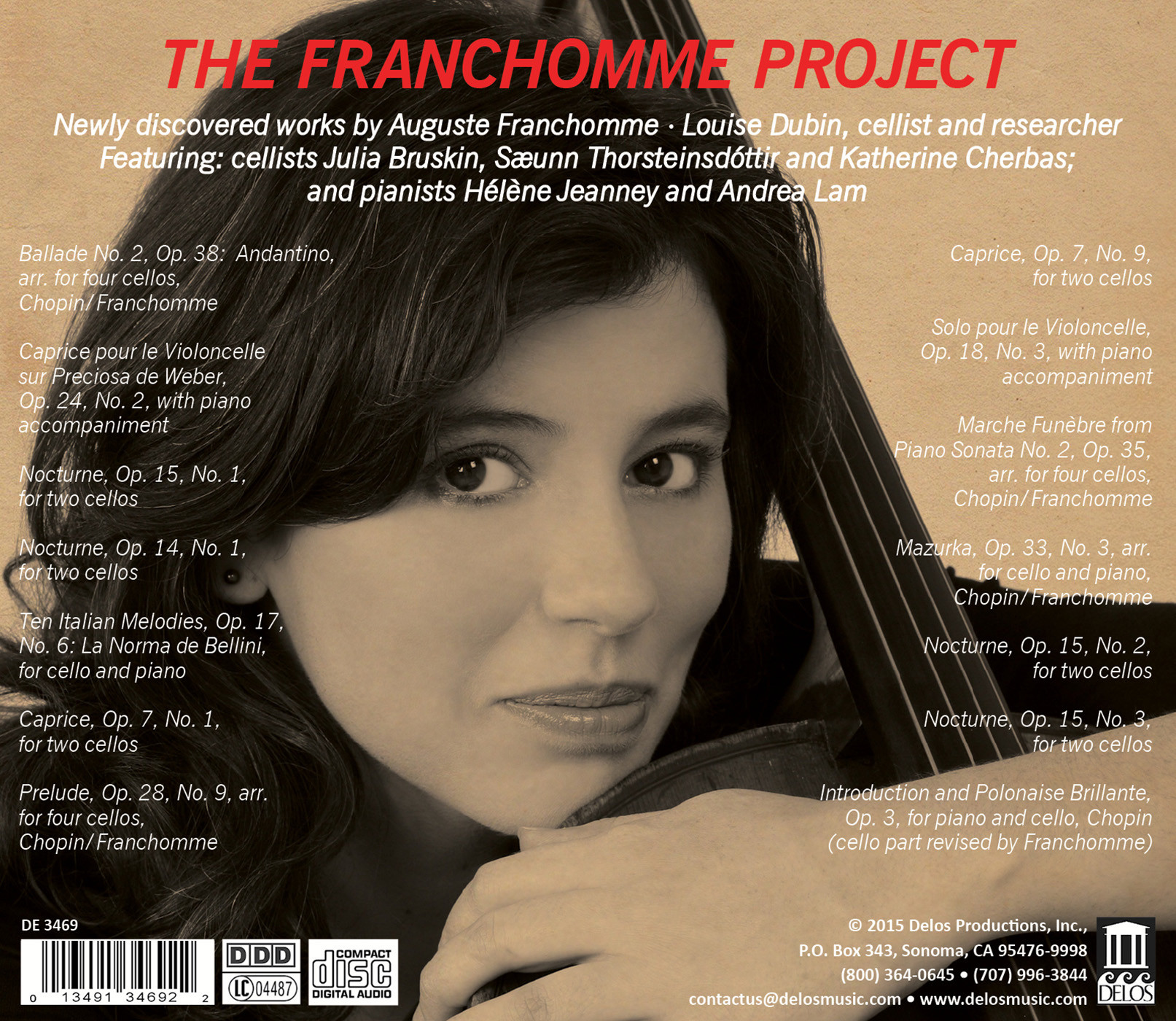 The Franchomme Project - CD Back Cover