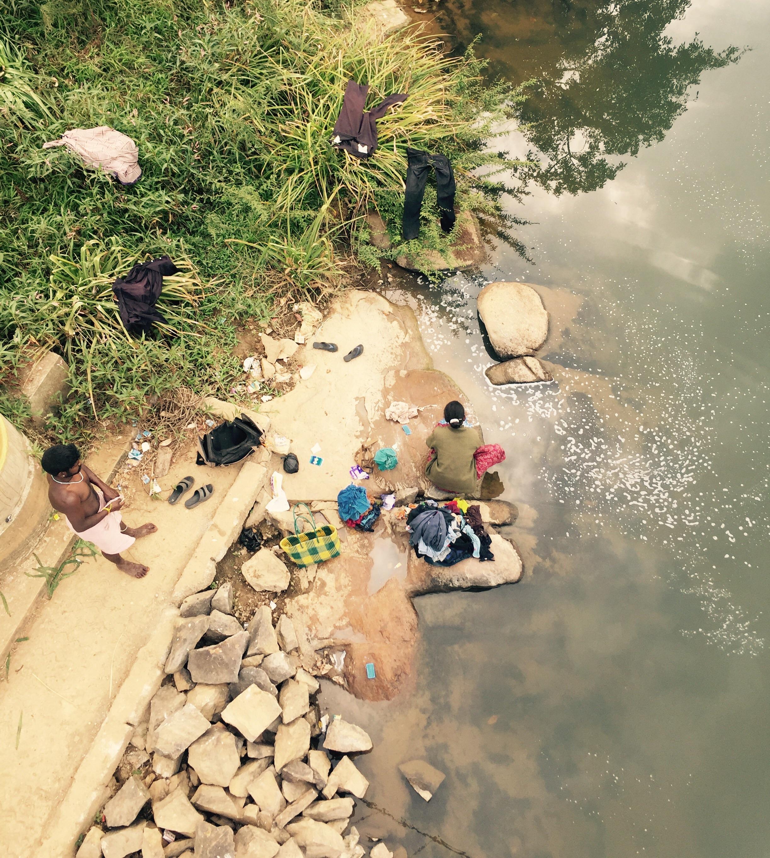Washing in the Kaveri