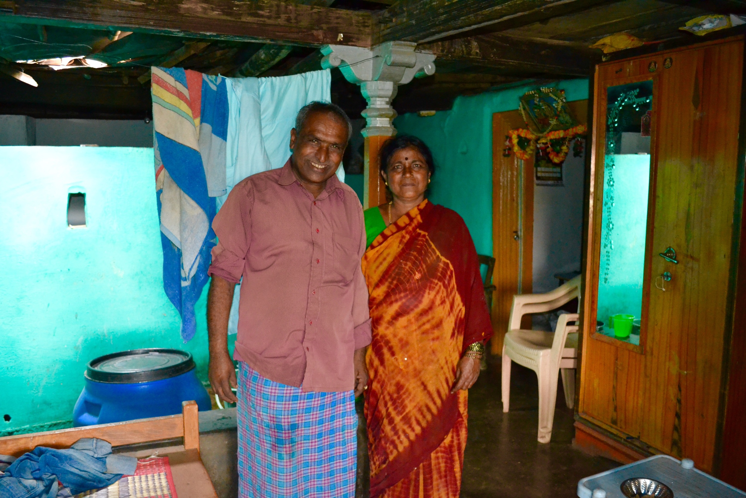 The legend who invited me into his home - the lady on the left is who I almost sat on