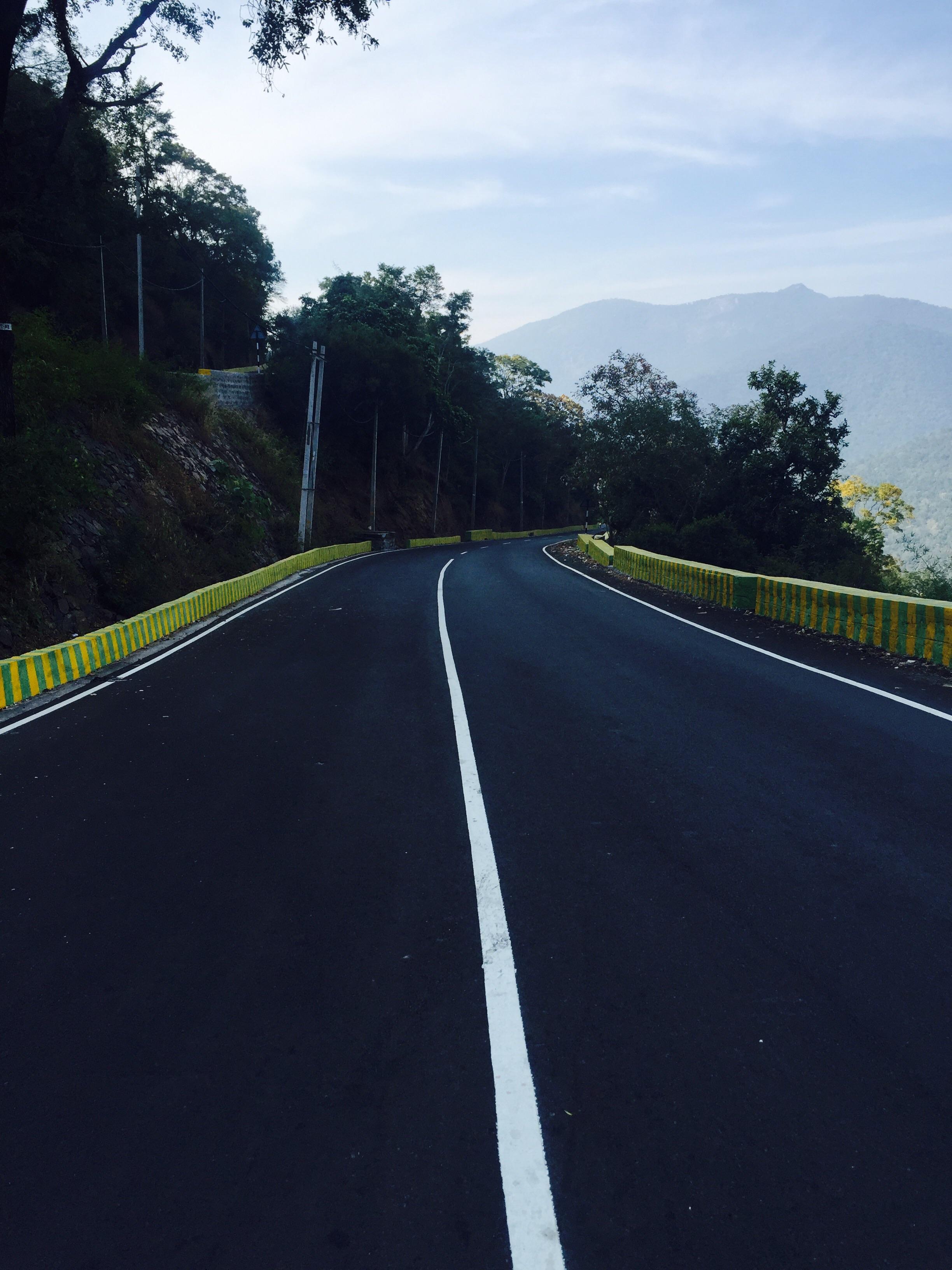 Winding road down MM Hills