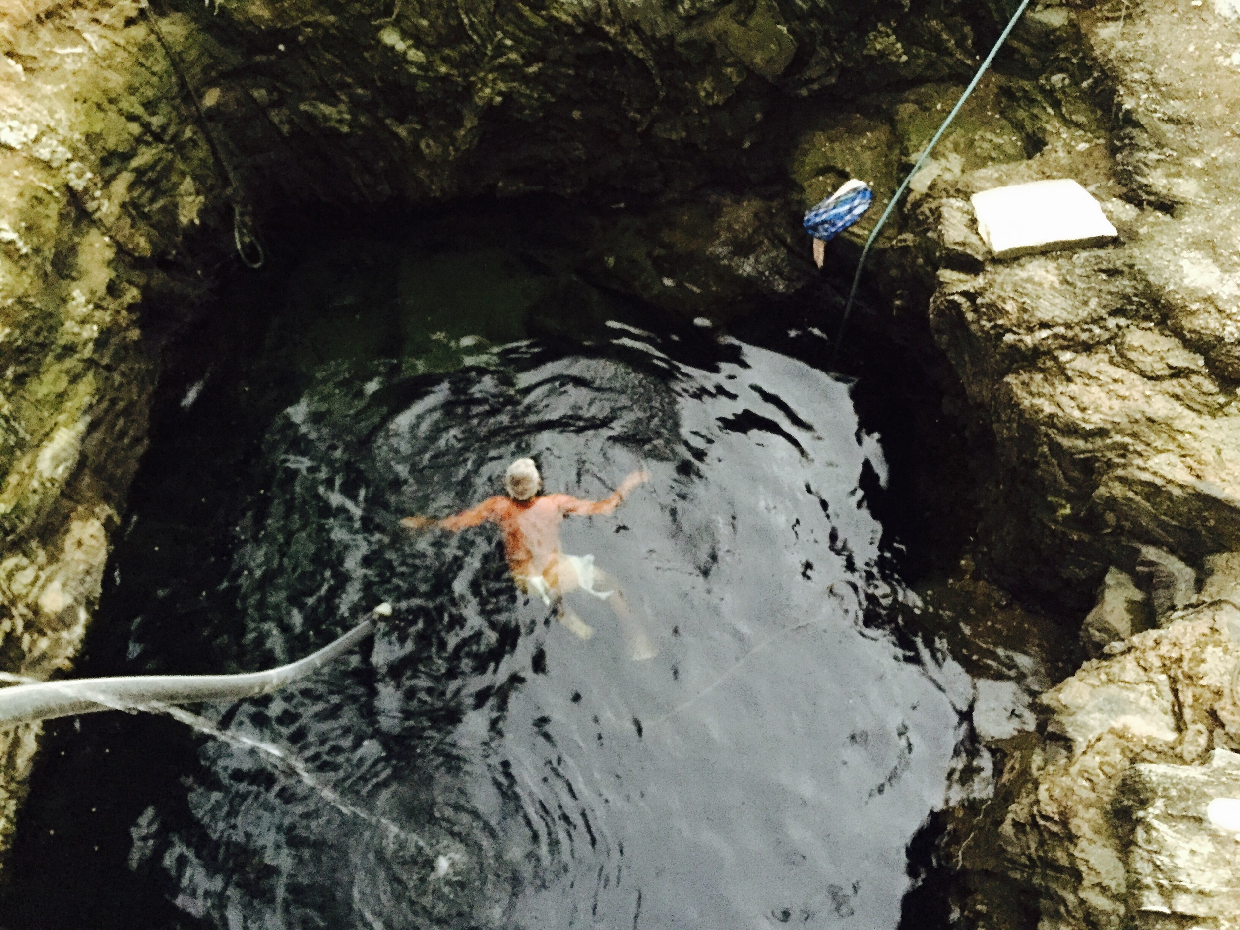A quick dip in the well