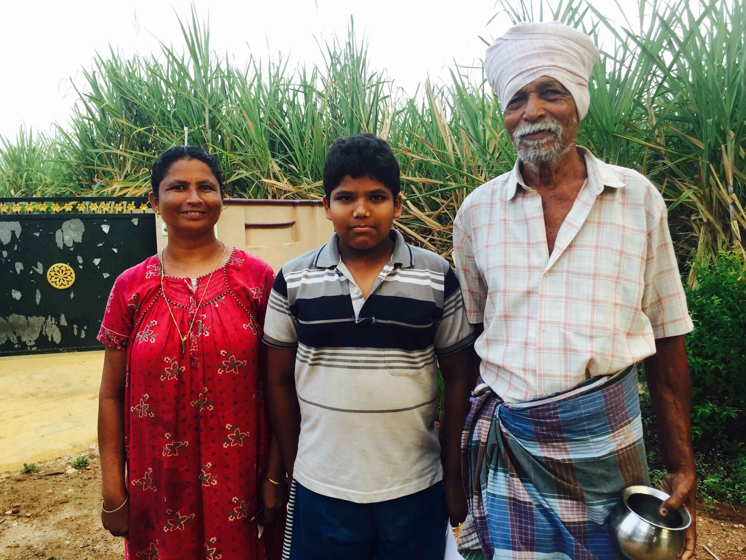 Nallasamy, his grandson and daughter-in-law. One last goodbye. Fuck I hate them.