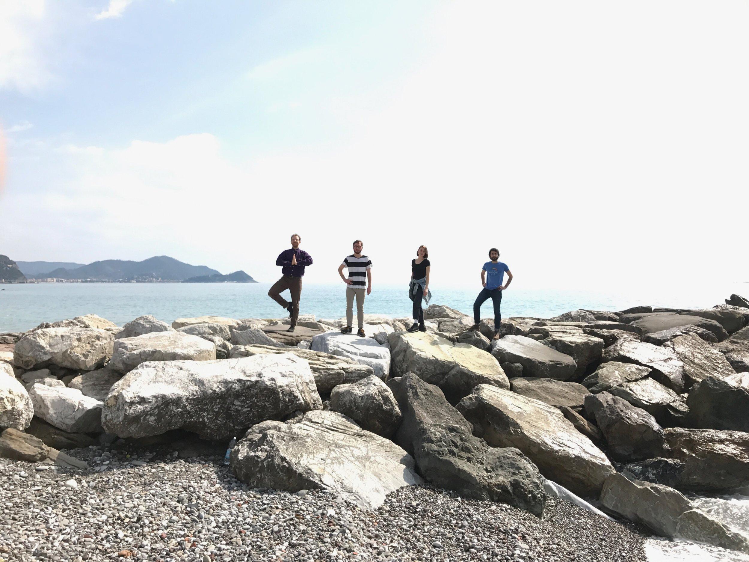 Frontier Ruckus on the Mediterranean Sea, outside Genoa, Italy (European tour 2017)