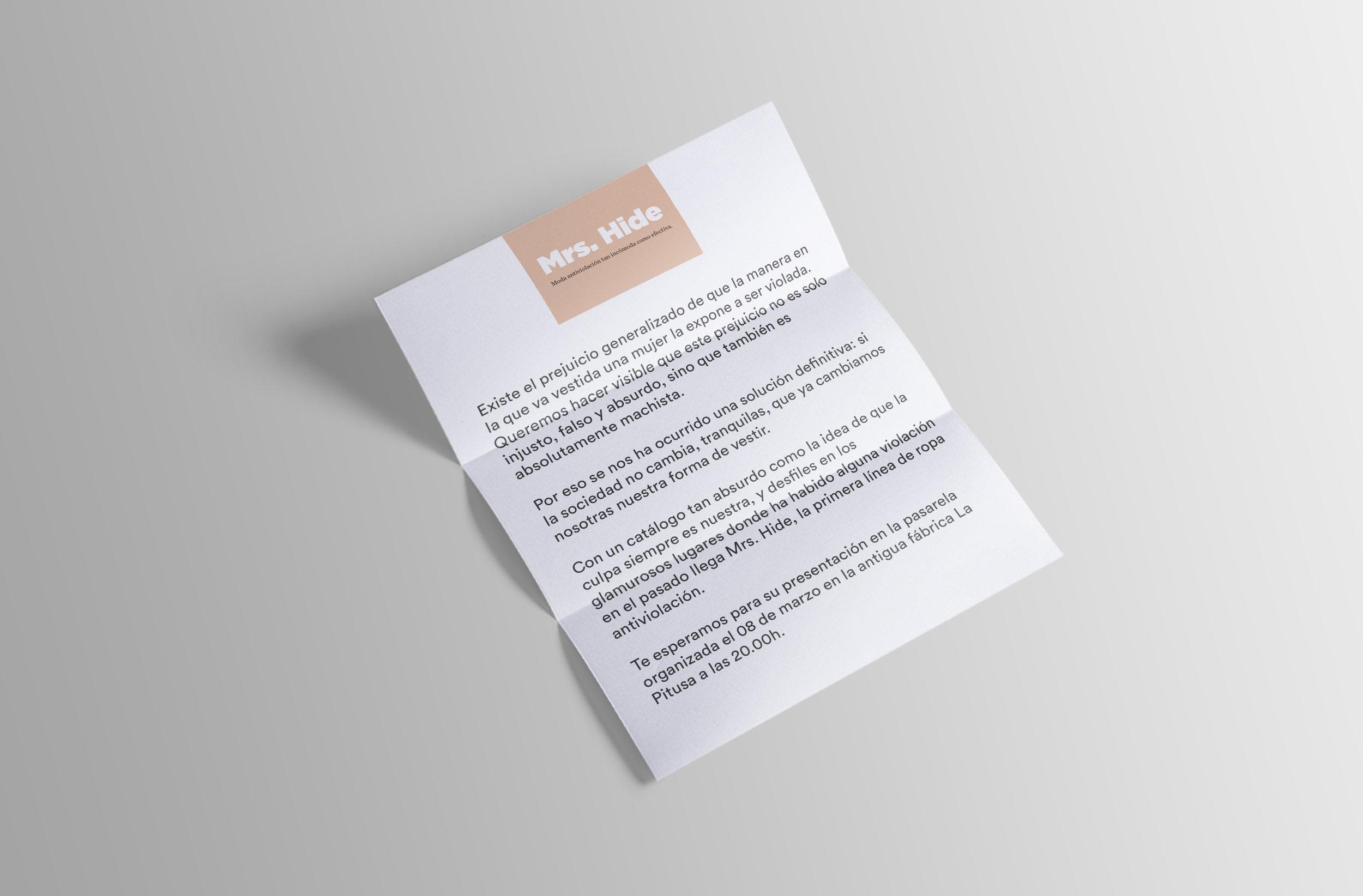 Carta de invitación al lanzamiento