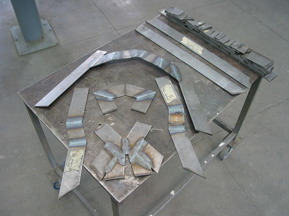 Final prototype welding in progress.