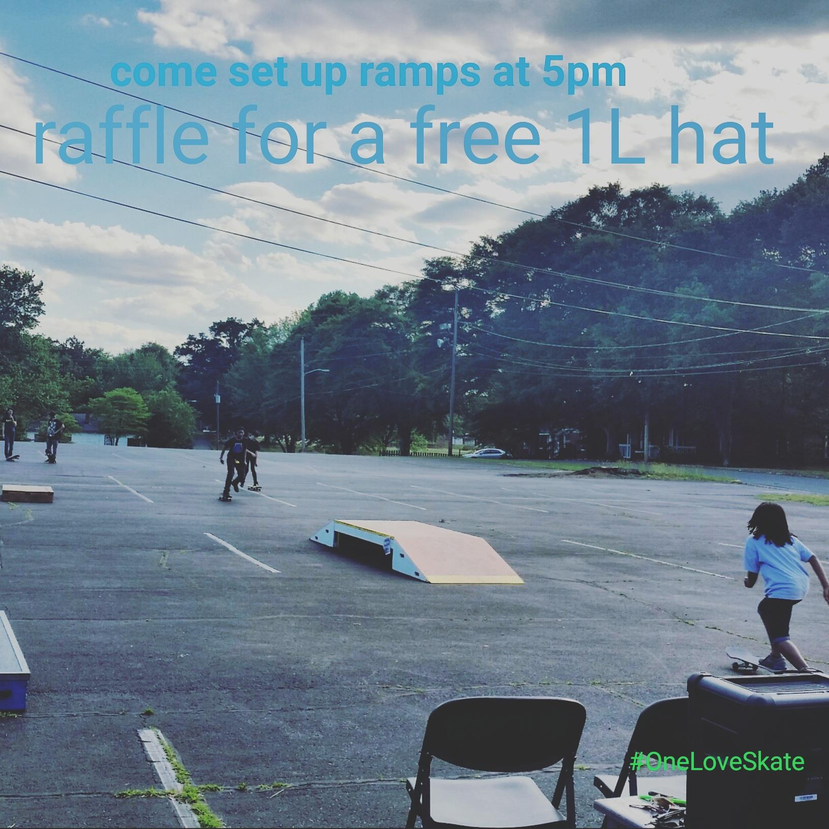 Pastor Skip at  Hope Community Church  purchased 4 One Love Hats to give away the last 4 weeks as we skated on Wednesdays.  Pastor Skip also   recently let us record him in a 1 minute 24 second video  encouraging people to support One Love Skate.