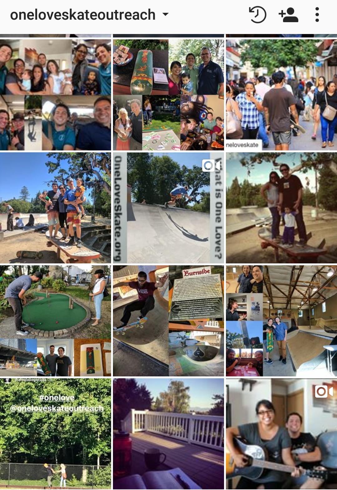 Recent  https://www.instagram.com/oneloveskateoutreach/  posts - It's been a very busy week