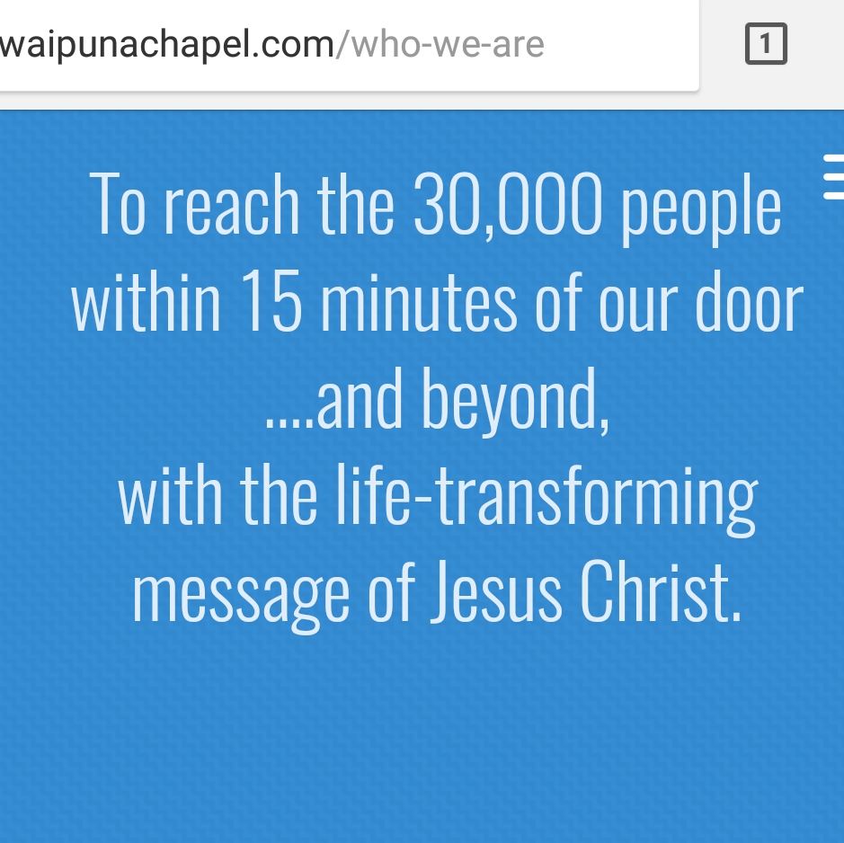 We are greatly looking forward to being at Waipuna Chapel, connecting with people, and helping people connect with Jesus as they plug in to His Church.