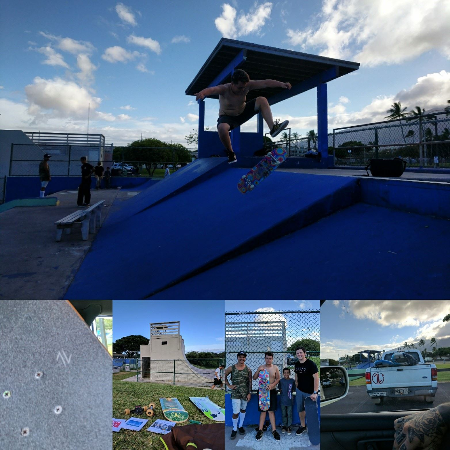 Stoked to be back on Maui & back at Keopuolani Skatepark last Wednesday. So fun to skate & hang with Sam P., Paul, & some skaters who have been part of 1L events in the past.
