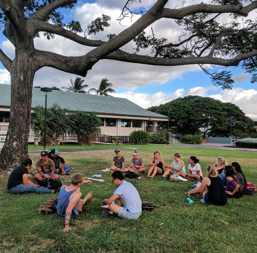 Last Wednesday ministry with YWAM at University of Hawaii Maui for Community Outreach