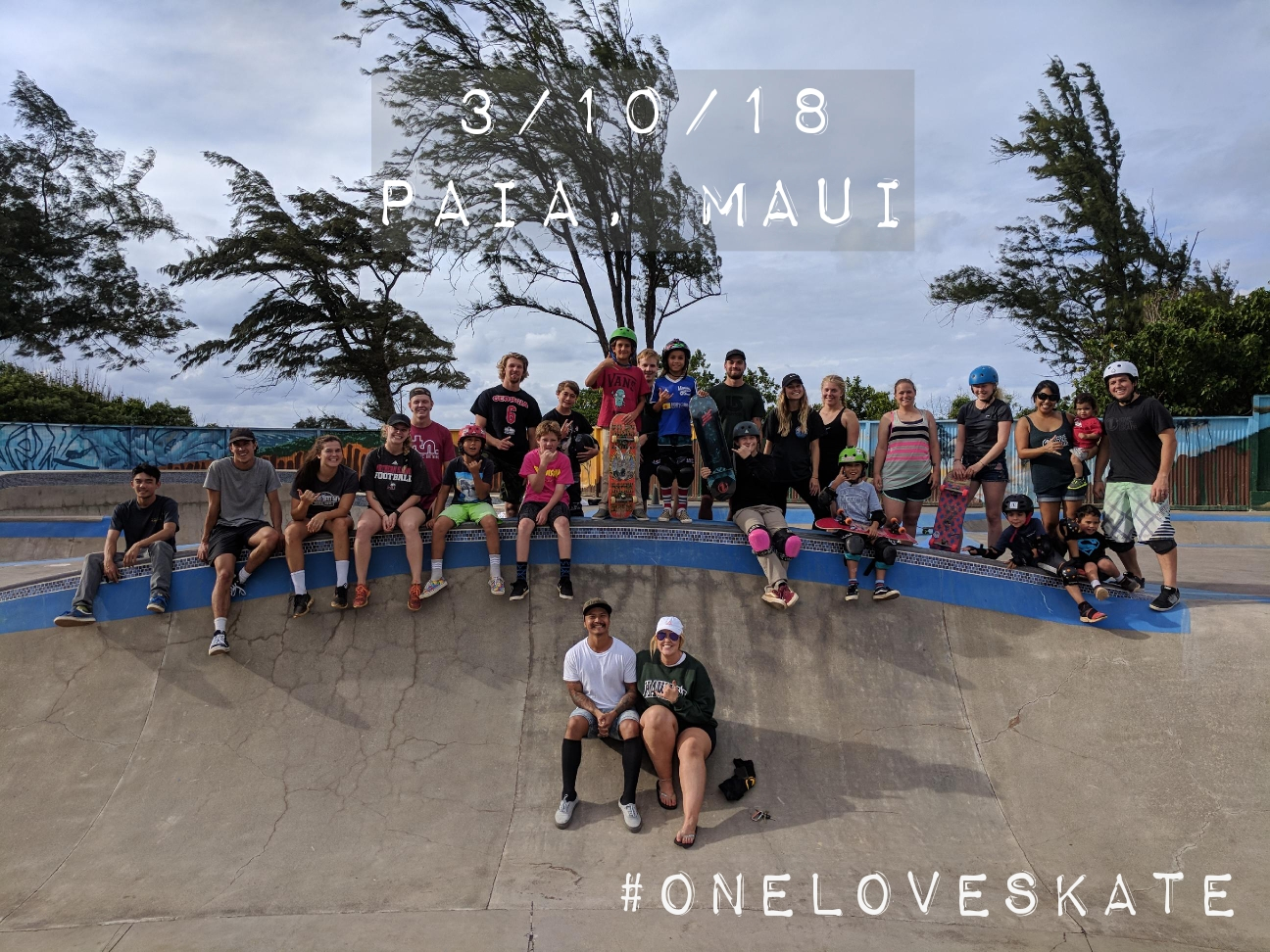 Last weekend, we worked with Surfing the Nations and Paia Youth & Cultural Center to have 1L Convos in Paia, Maui. Through this event and One Love interviews, we gave away several skateboards, shirts, and stickers to share the 1L. #LiveOneLove