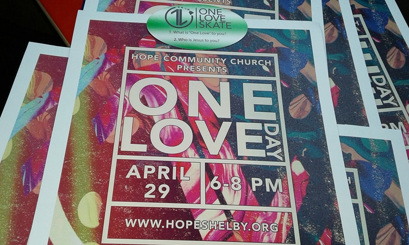 Upcoming One Love Skate and One Love basketball event in Shelby, NC.