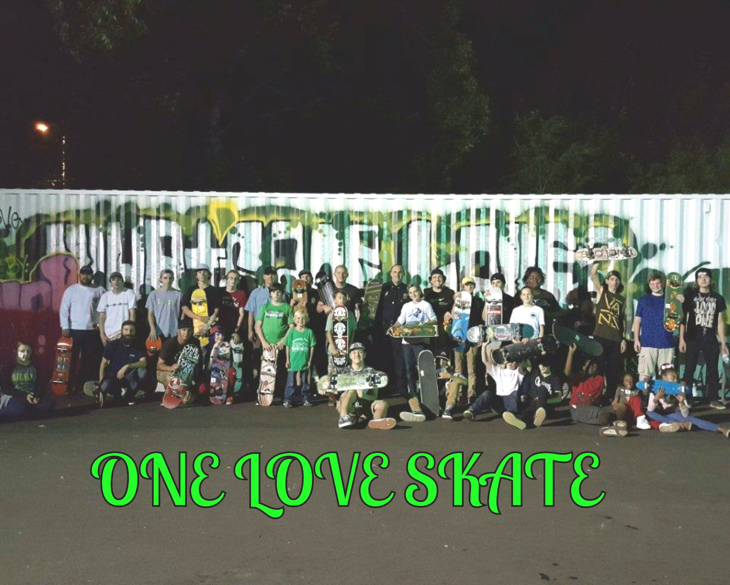 "Here's a throwback picture from 2016 when Brody helped start and lead #OneLoveSkate at Hope Community Church in Shelby, NC. Even though he's in Maui now, 18 students still came to skate at Hope Community Church a couple weeks ago. Thankful to be ""shoulder to shoulder with soldiers for the Kingdom"" who live One Love."