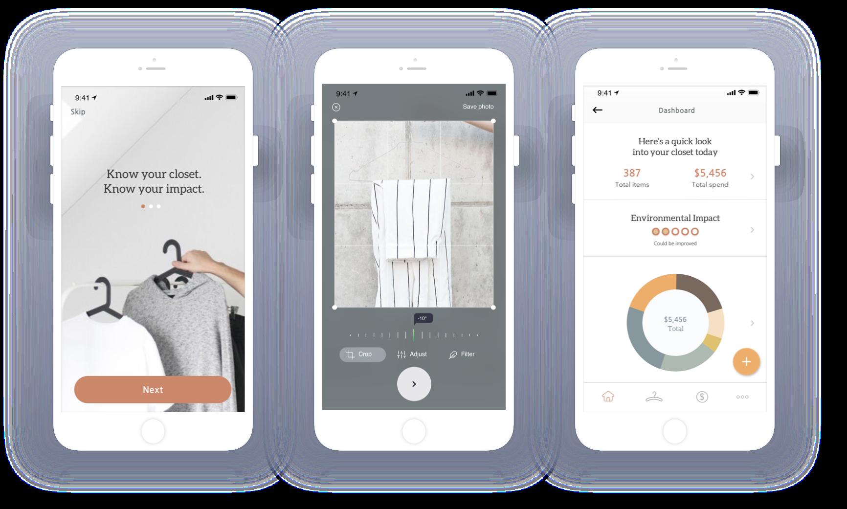 Final UI design of mobile app