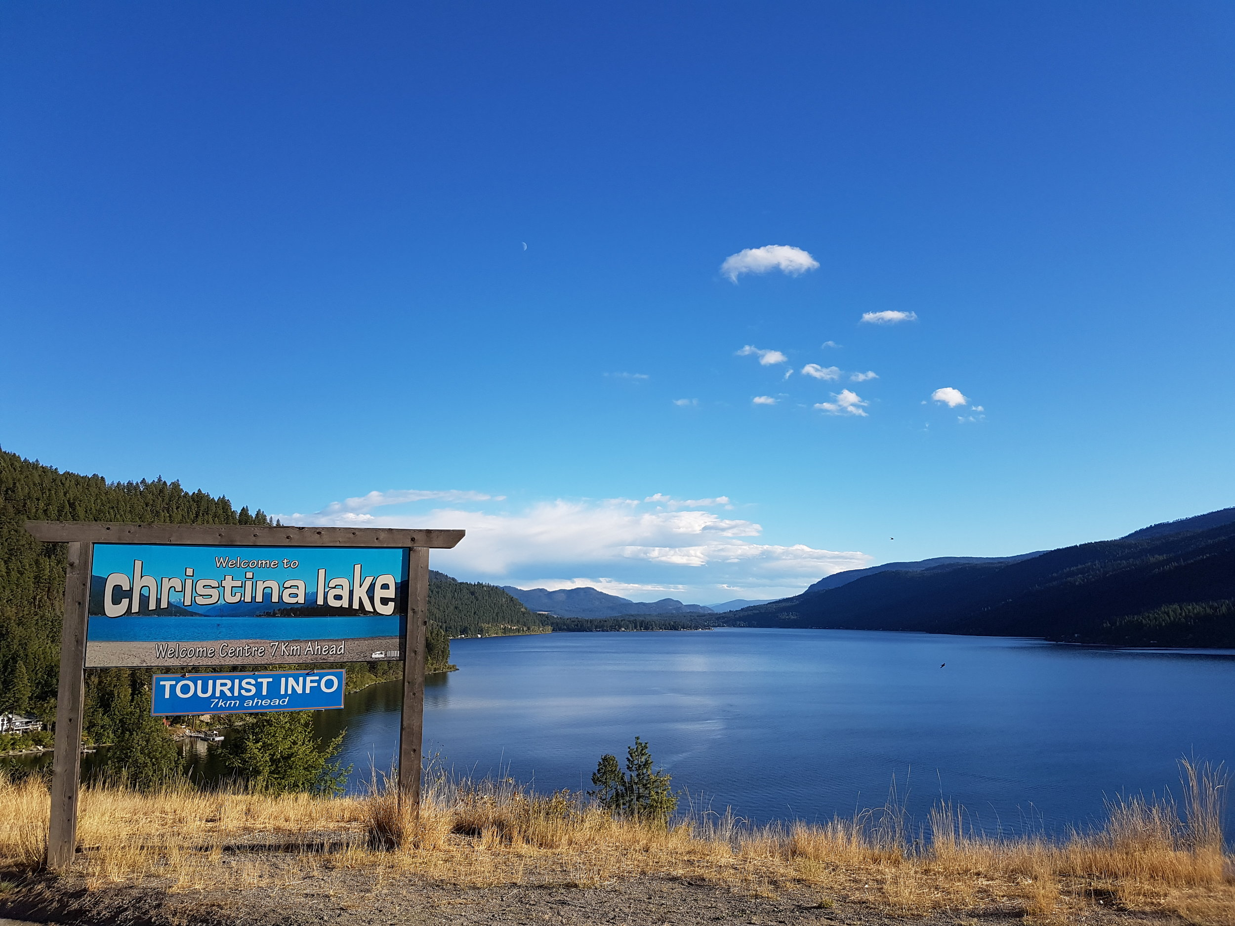 Christina Lake during our Multiday Bike and Hike tours