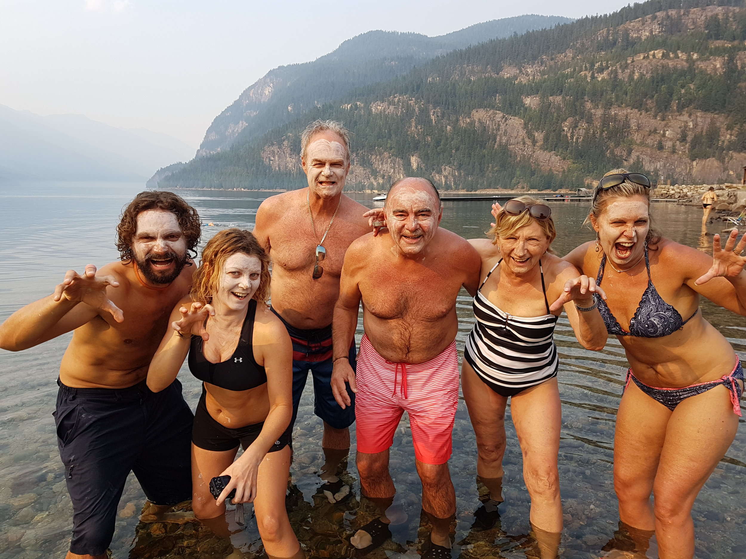 A refreshing swim during one of the Multiday Bike Tours in Bc