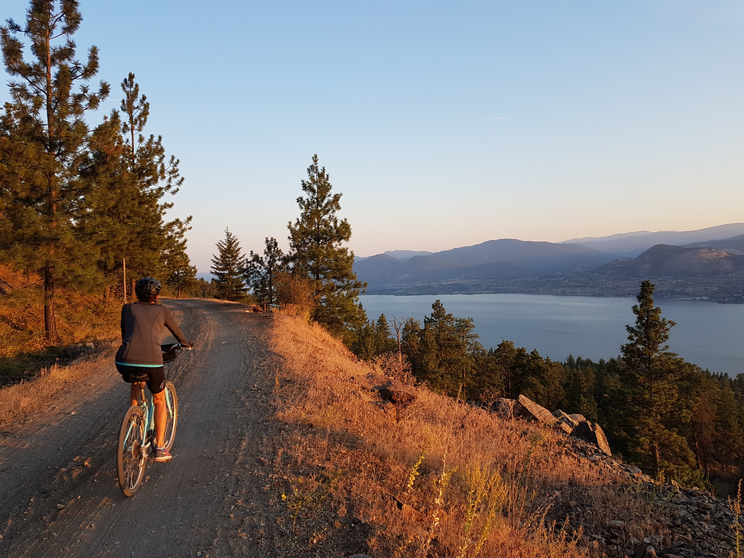 Rolling down the hills next to the Okanagan Lake