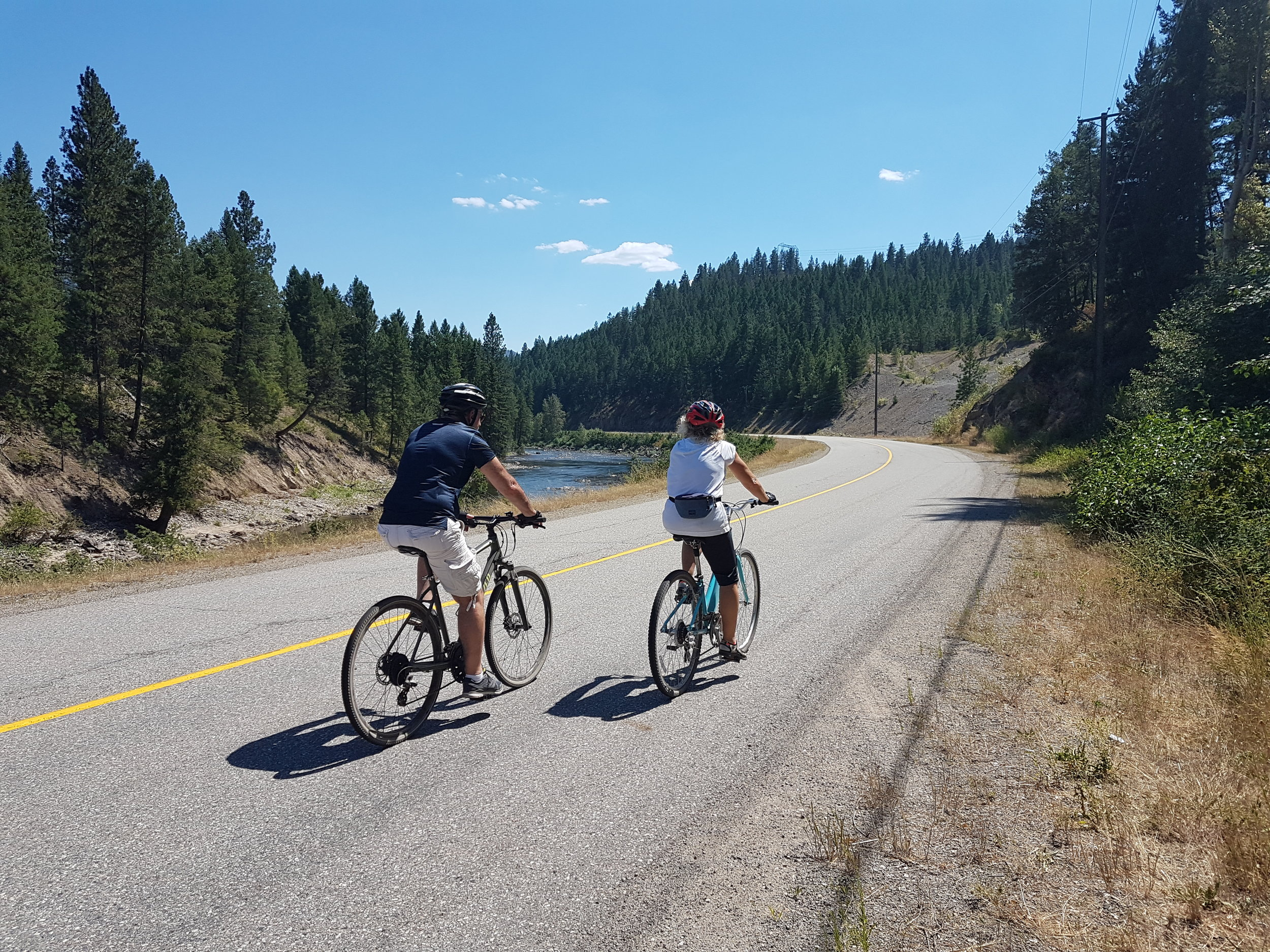 Cycling on the road during one of our Multiday Bike holidays