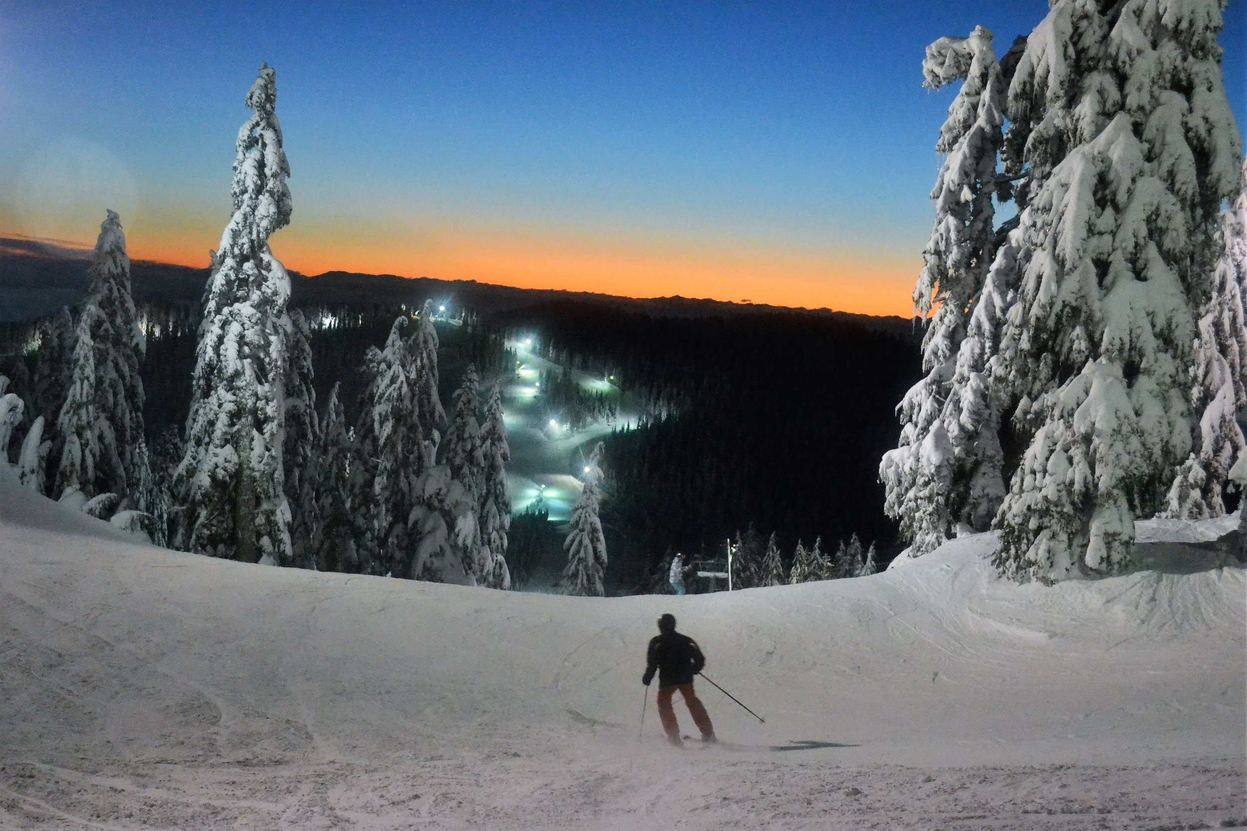 Night skiing in Vancouver