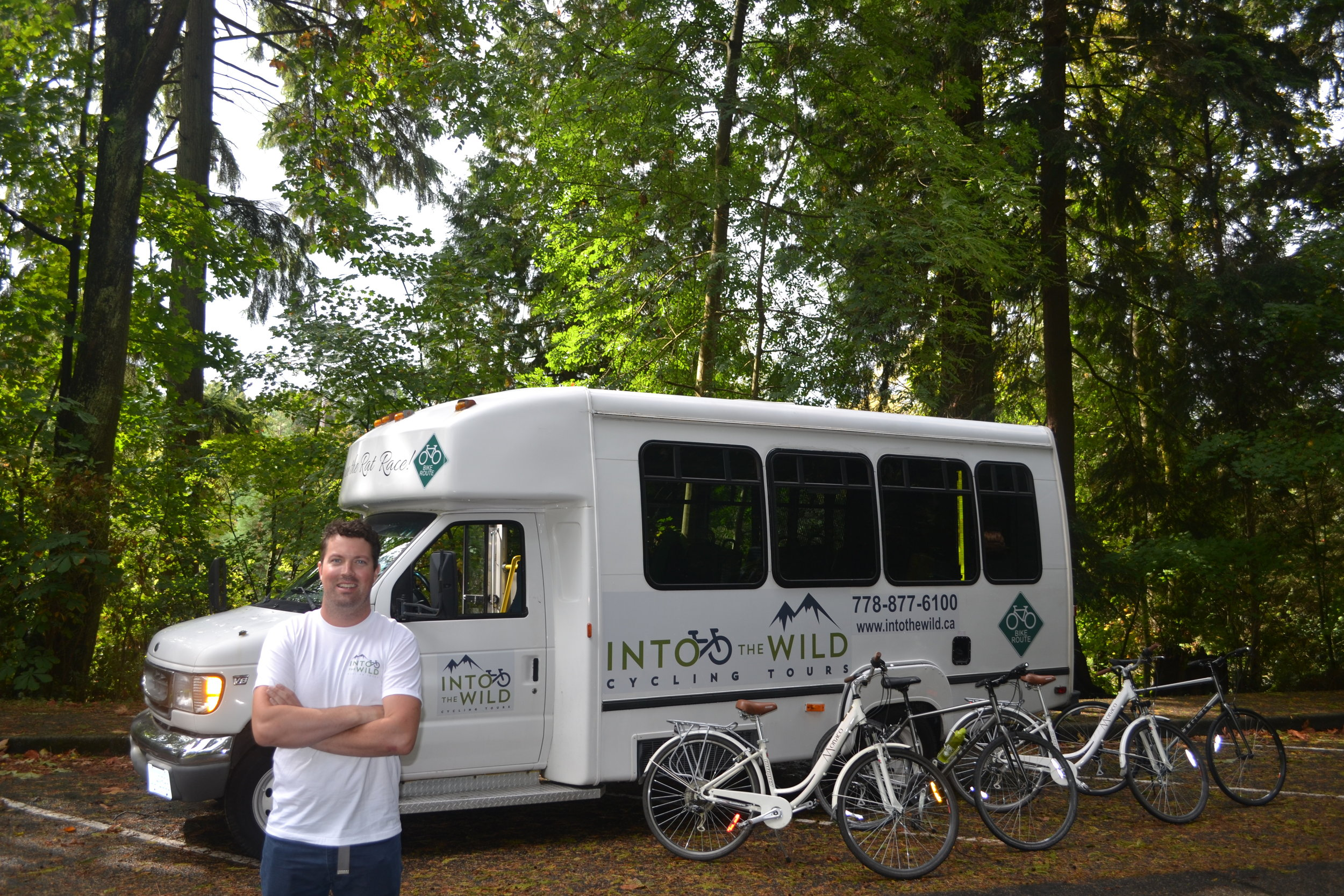 Into The Wild bus and your tour guide