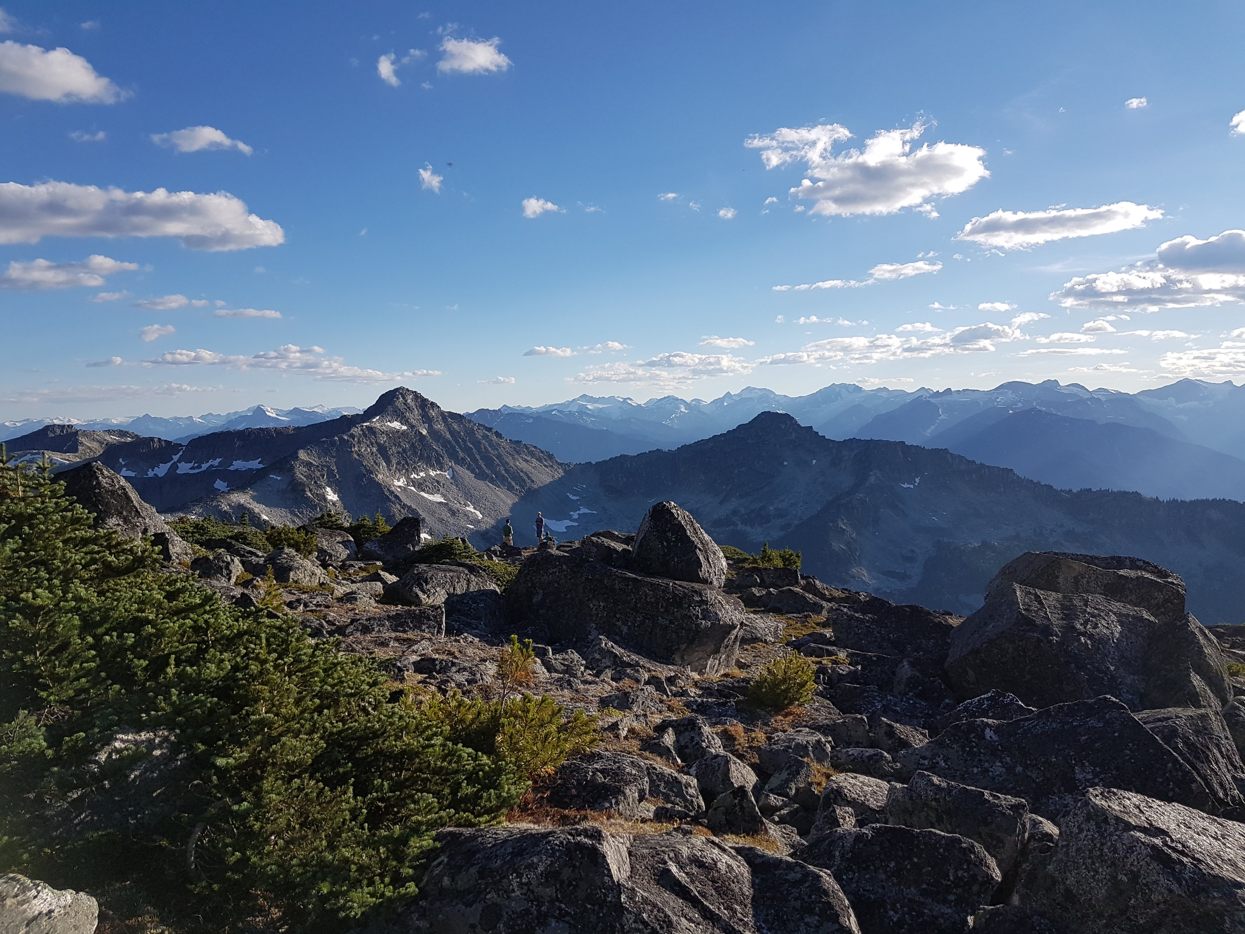 Incredible view from the top of Joffre Lakes Provincial Park on our private hiking tour