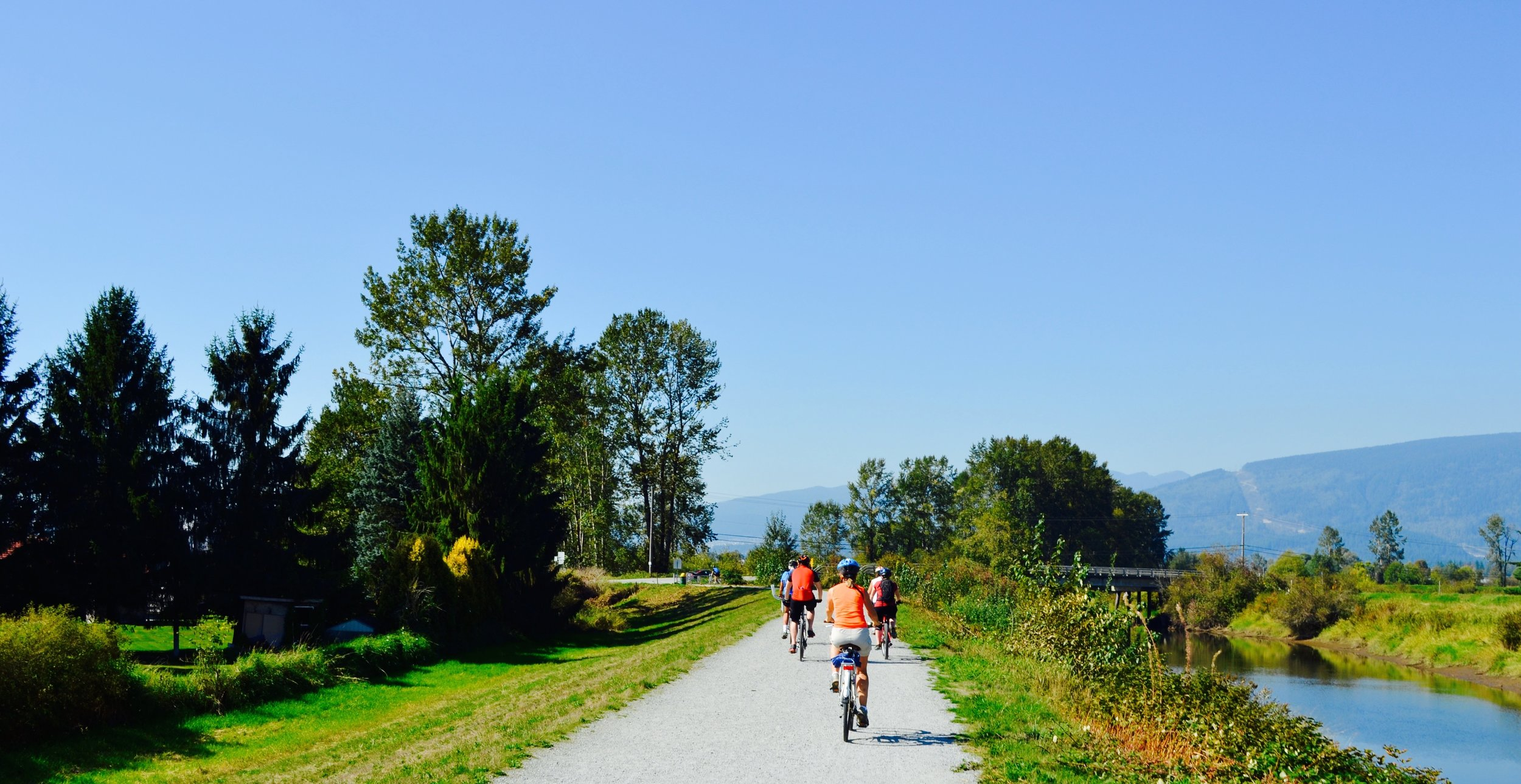 Riding the Trans Canada Trail at Pitt Meadows