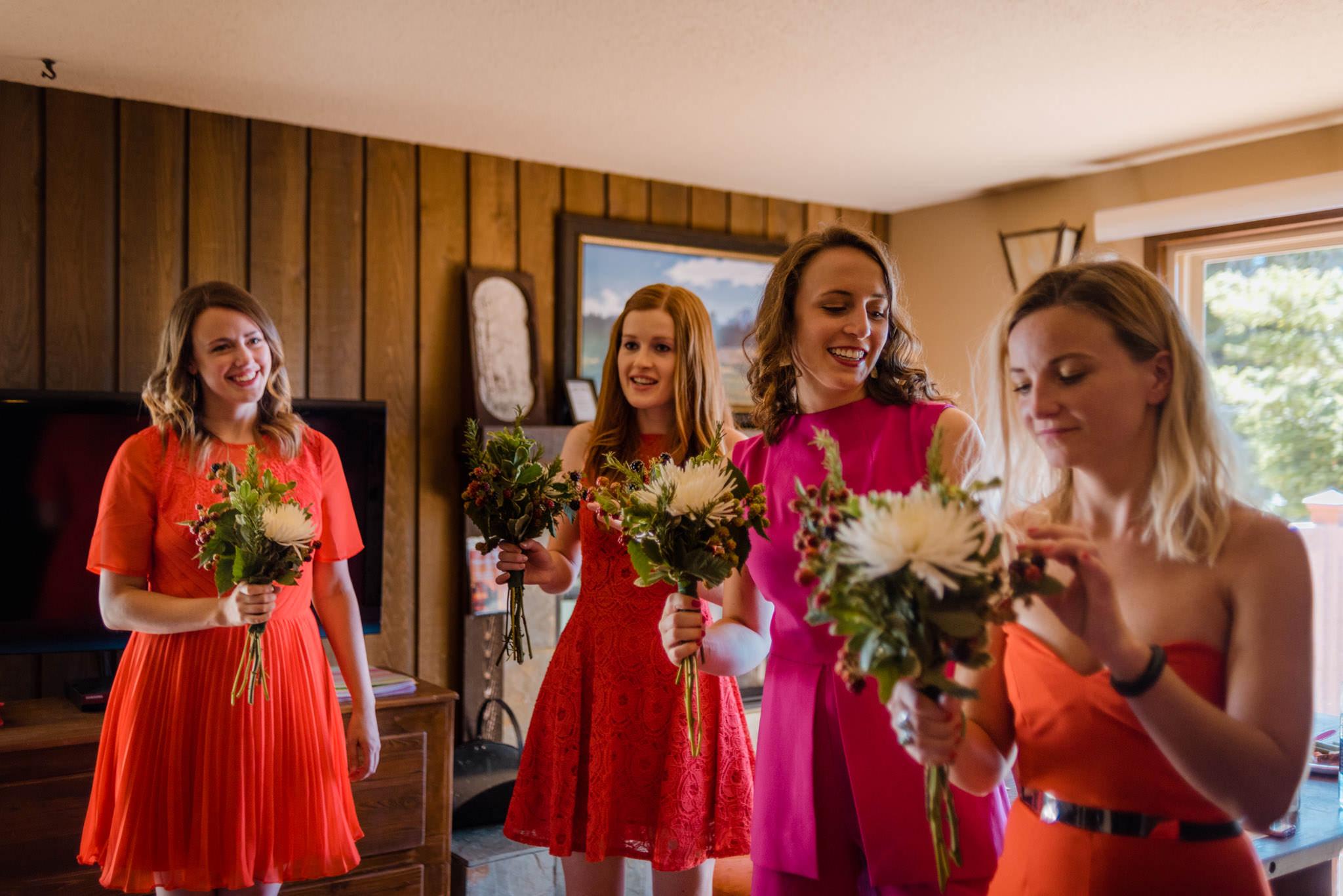 Zilla Photography Wild Adventure Mountain Wedding Bridesmaids