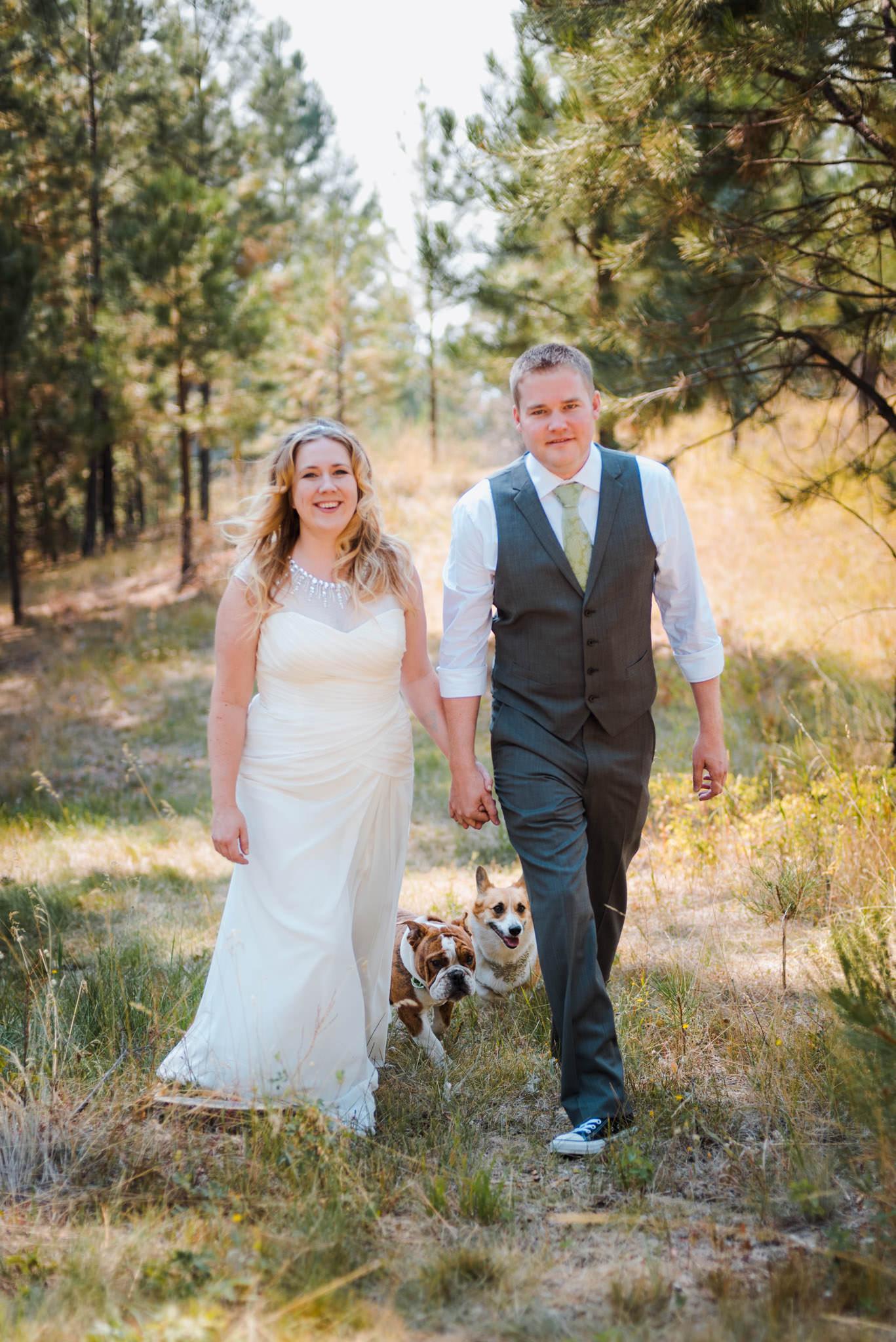 Zilla Photography Wild Adventure Mountain Wedding Dogs