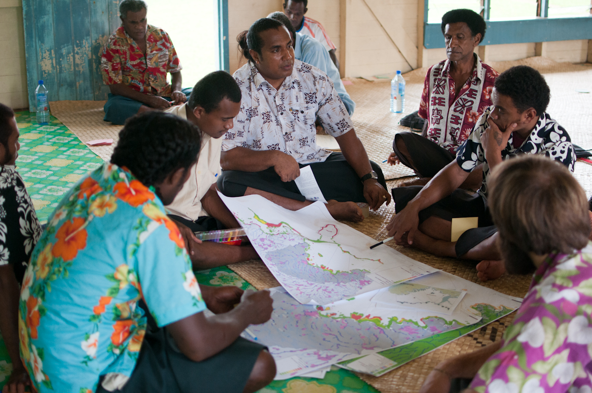 Conservation priorities being discussed at a stakeholder workshop in Fiji