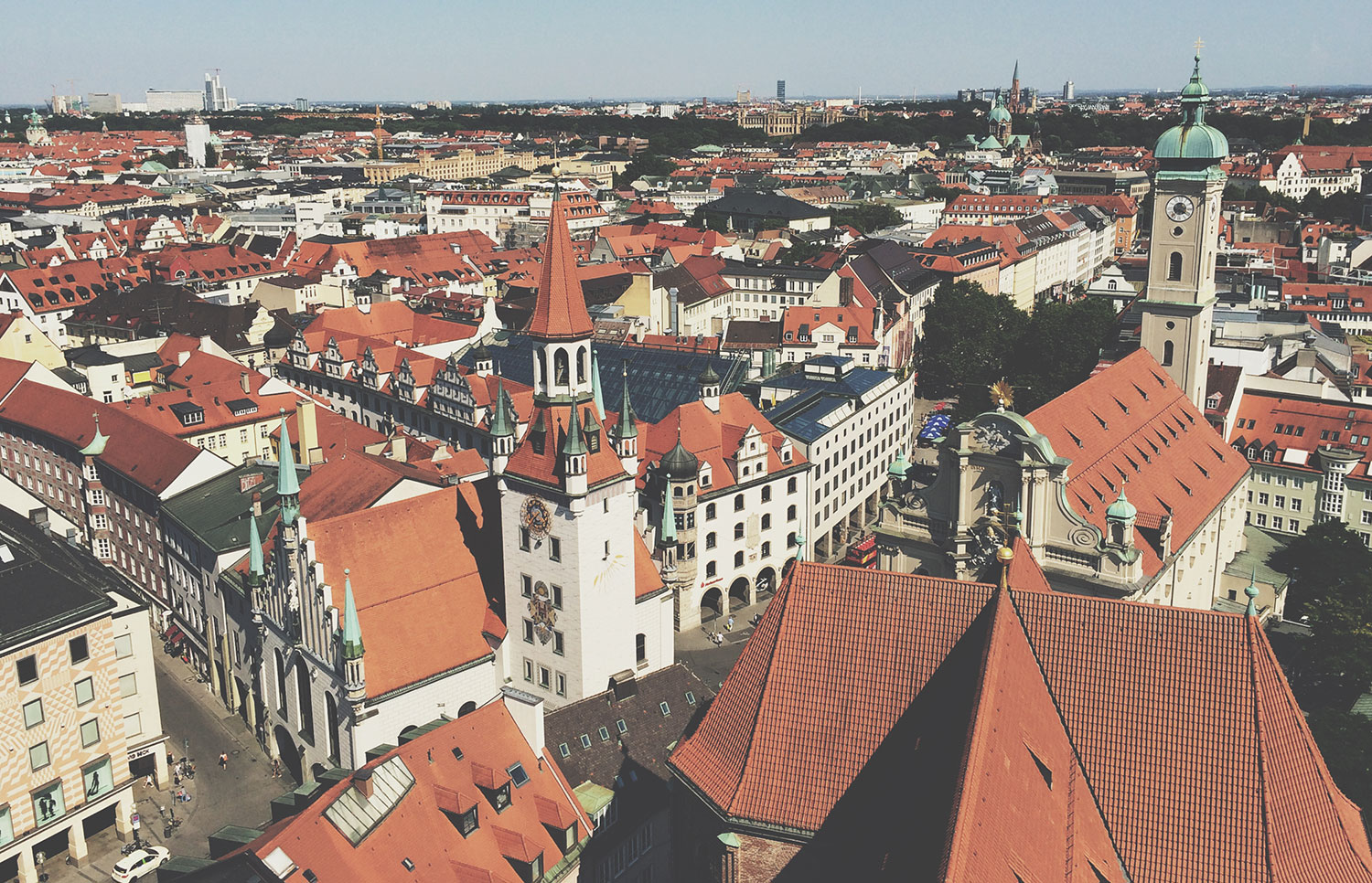 View of Munich from atop of St. Peter's Church