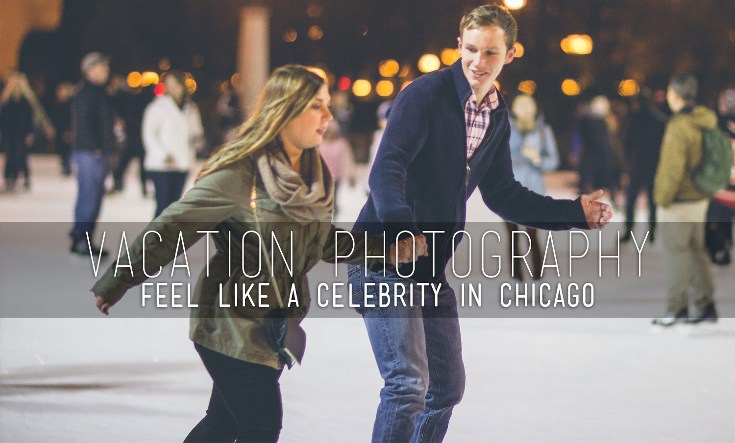 Couple in Millennium Park's ice rink