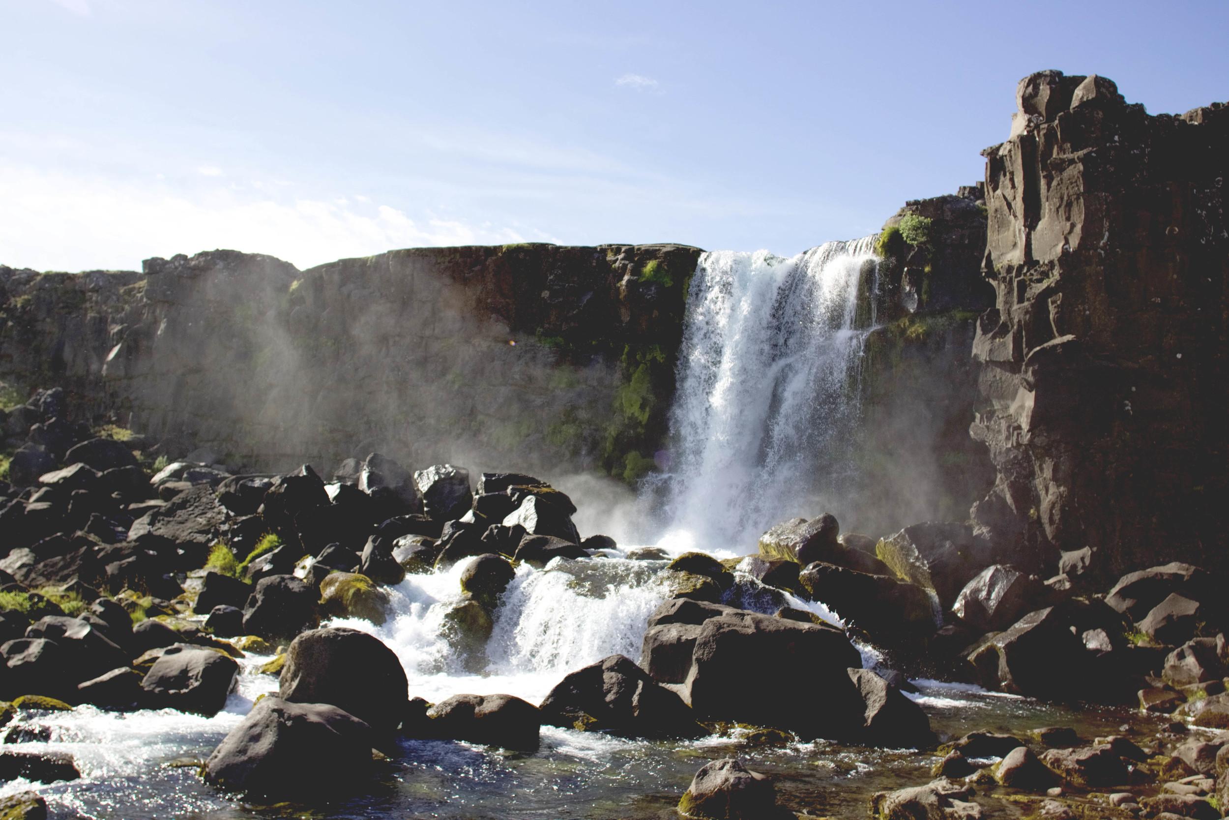 Tectonic Plate Waterfall