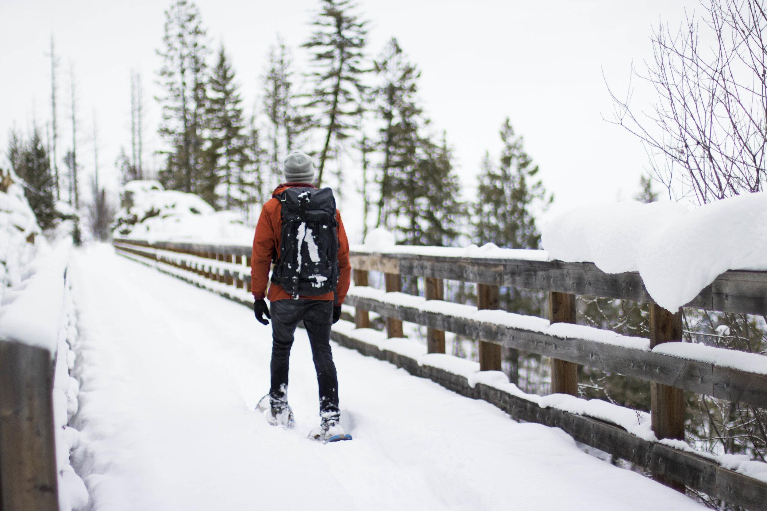 Winter Hiking Kettle Valley Rail Trail