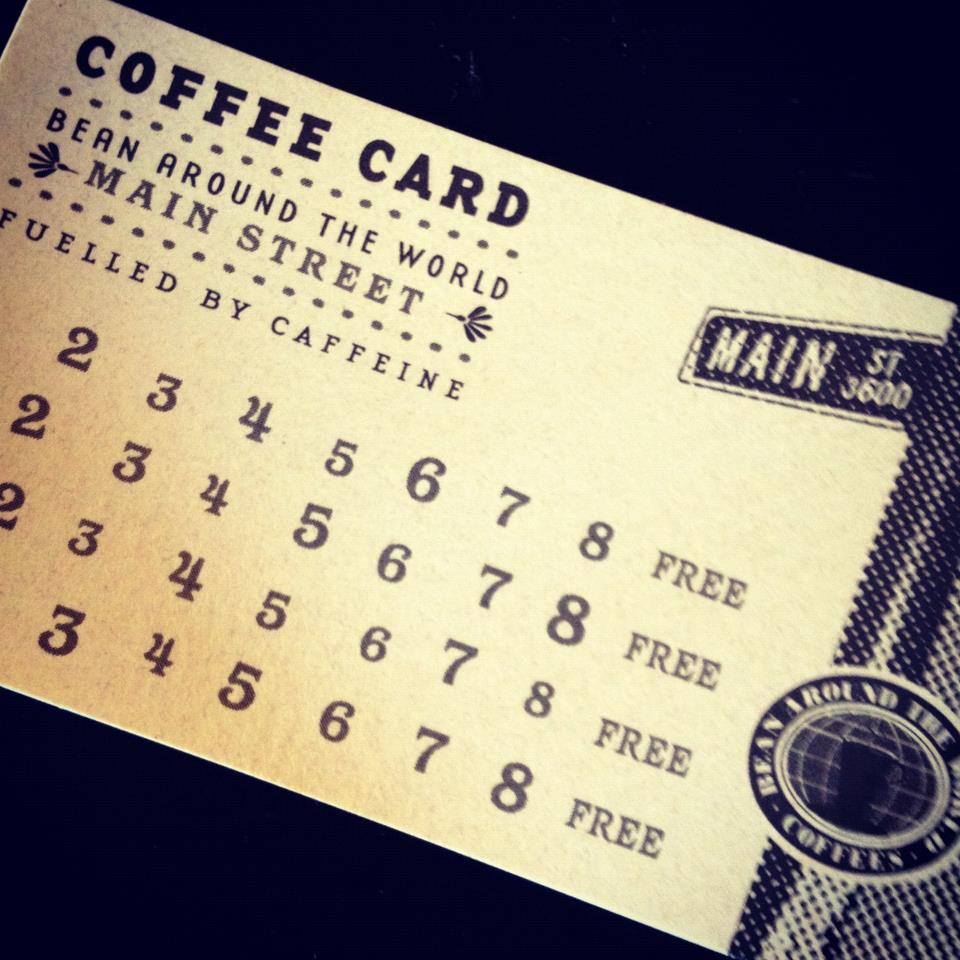 BEAN Punchcard